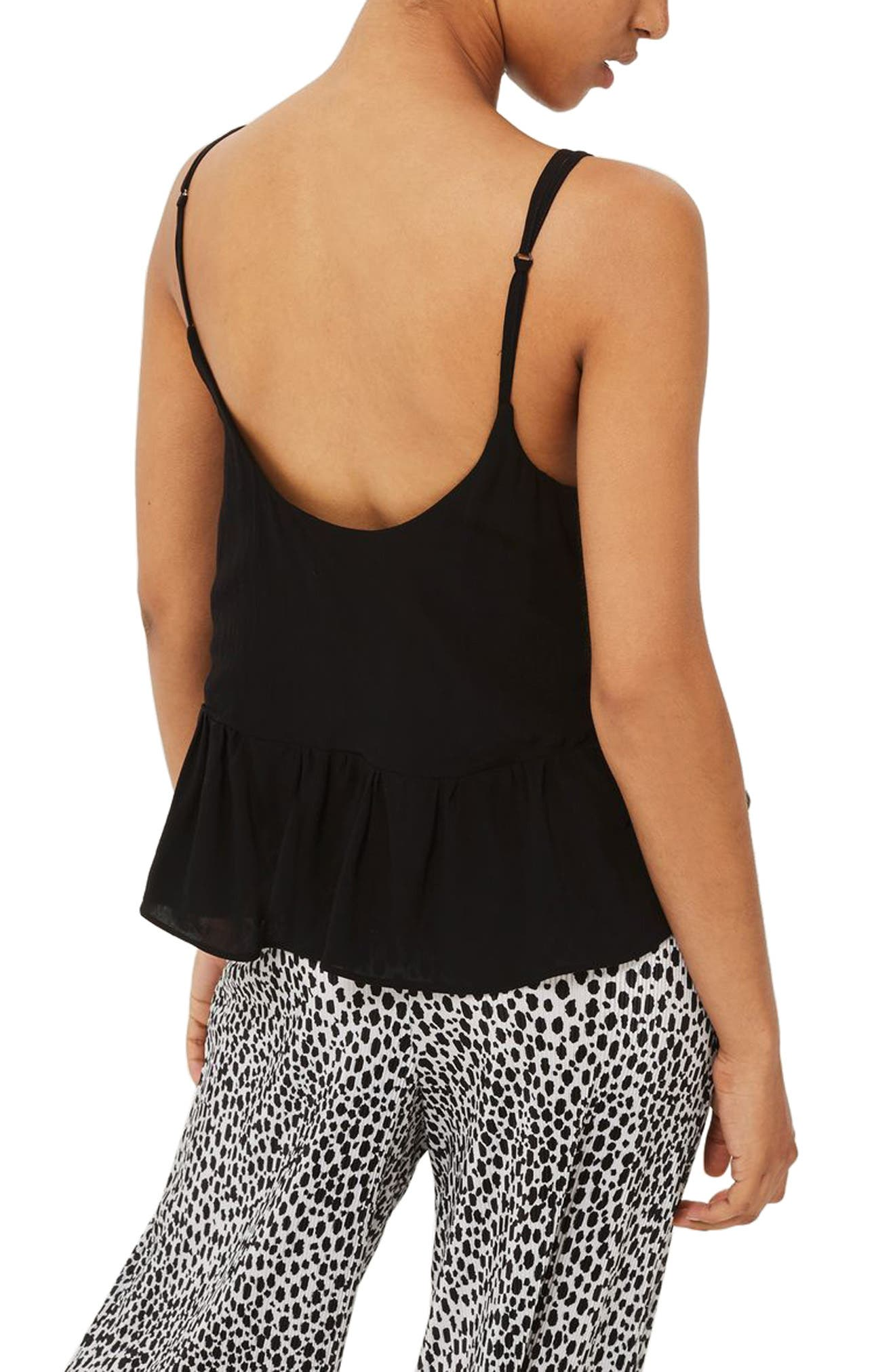 Peplum Camisole,                             Alternate thumbnail 2, color,                             001