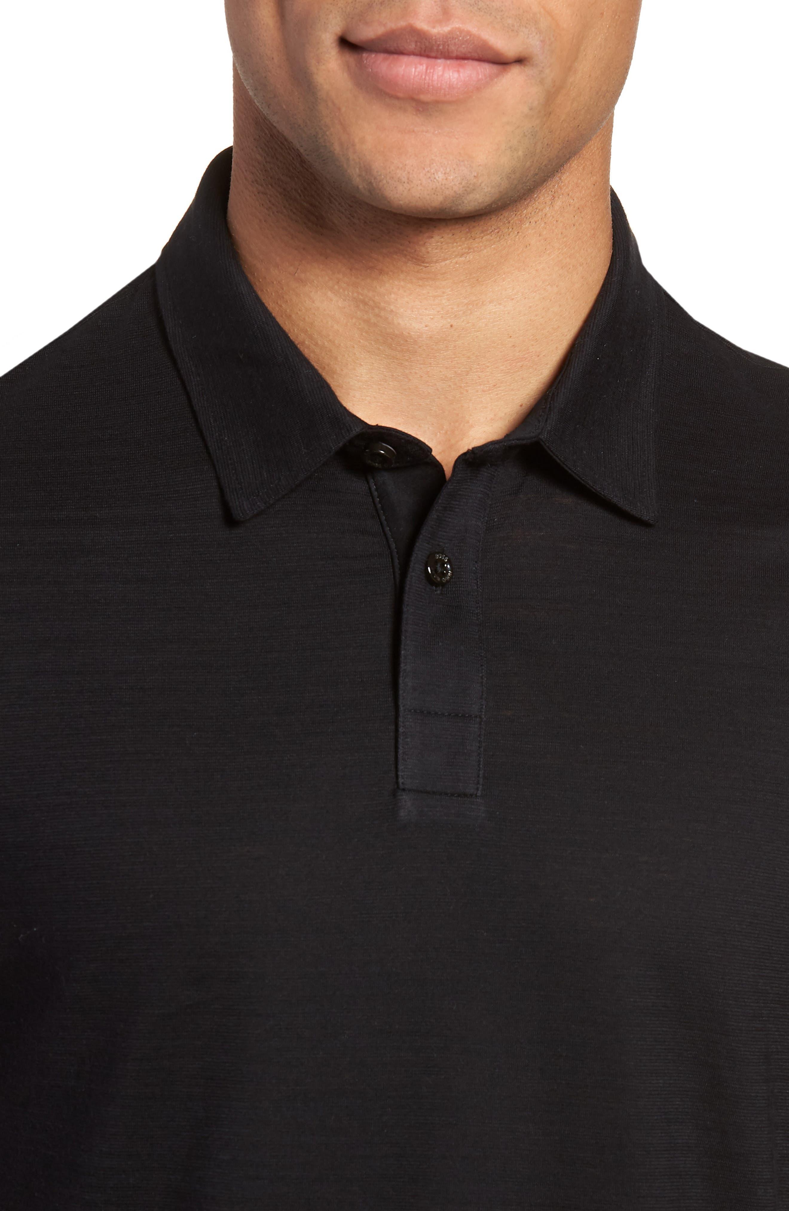 Press Flame Slim Fit Polo Shirt,                             Alternate thumbnail 4, color,                             001