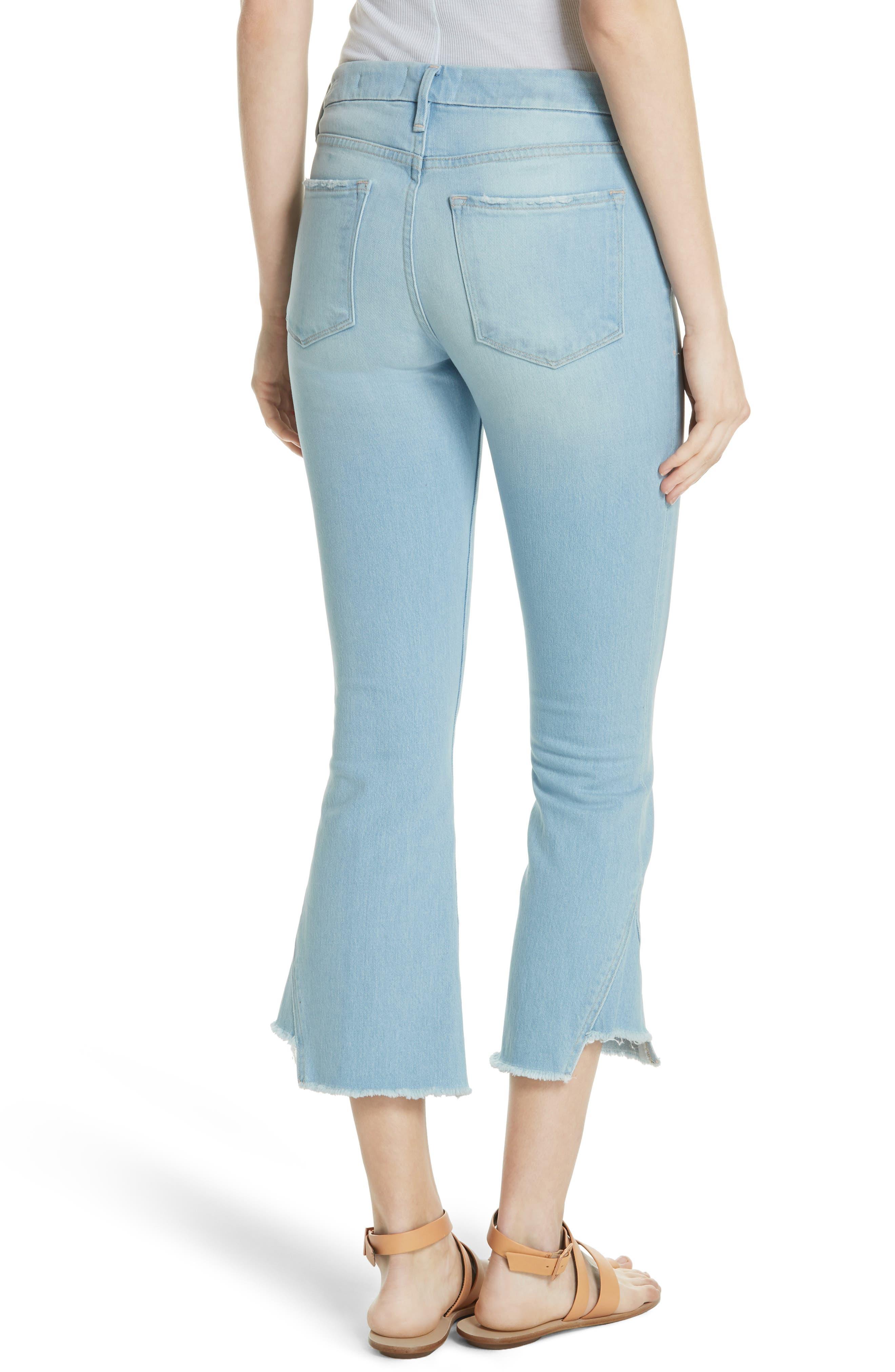Le Crop Gusset Step Hem Mini Boot Jeans,                             Alternate thumbnail 2, color,                             450