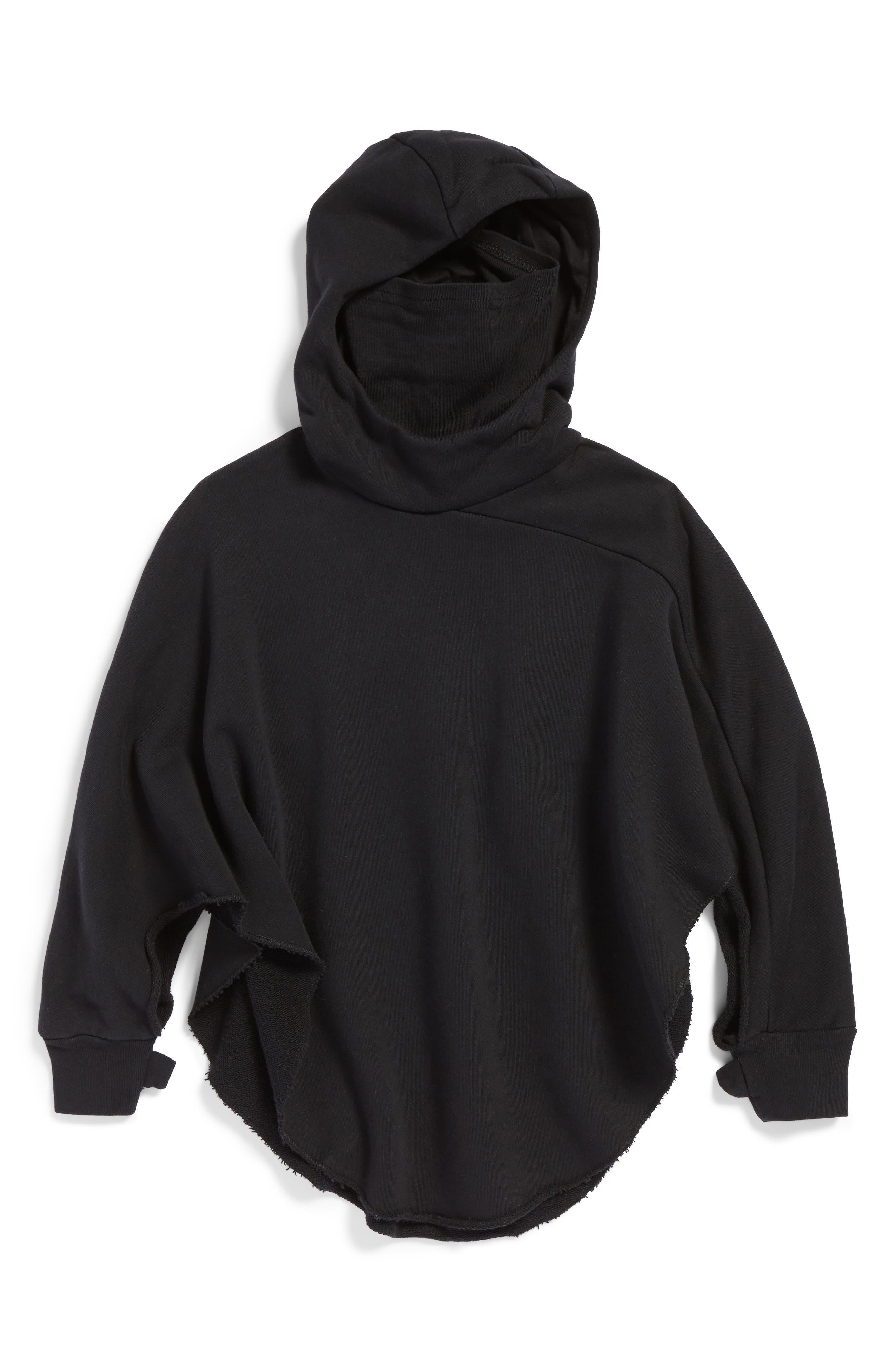 Ninja Hooded Poncho,                             Main thumbnail 1, color,                             001