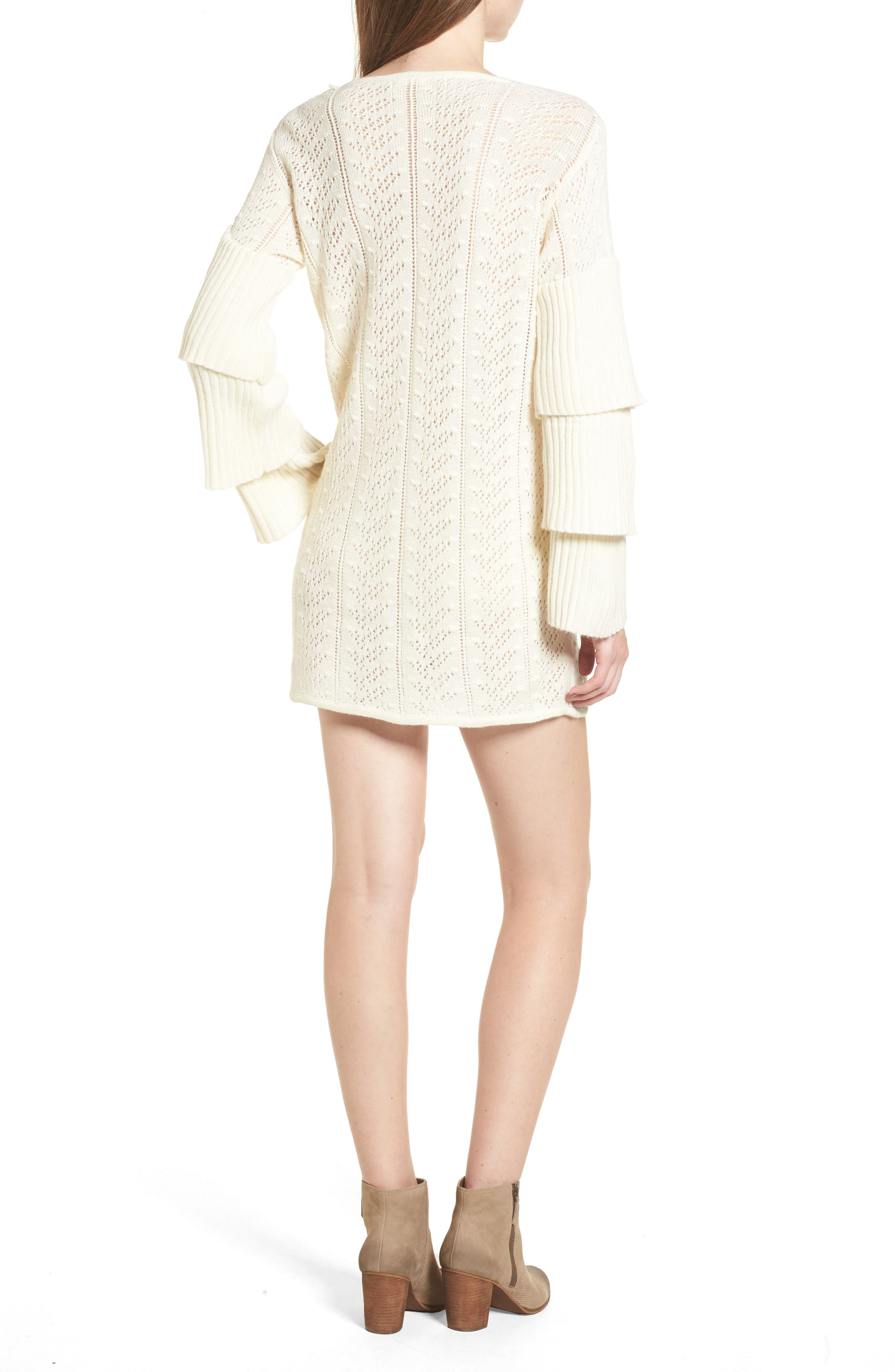 Scout Knit Ruffle Sleeve Dress,                             Alternate thumbnail 2, color,