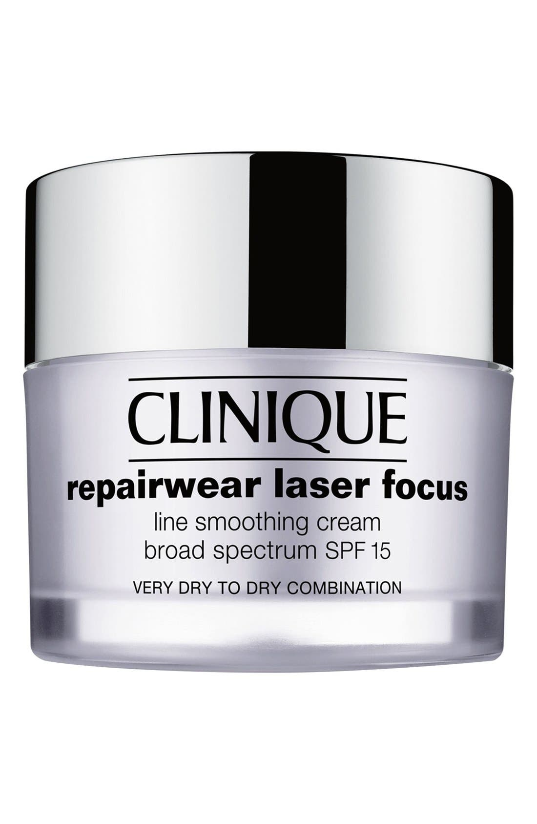 Repairwear Laser Focus SPF 15 Line Smoothing Cream for Combination Oily to Oily Skin,                             Main thumbnail 1, color,                             001