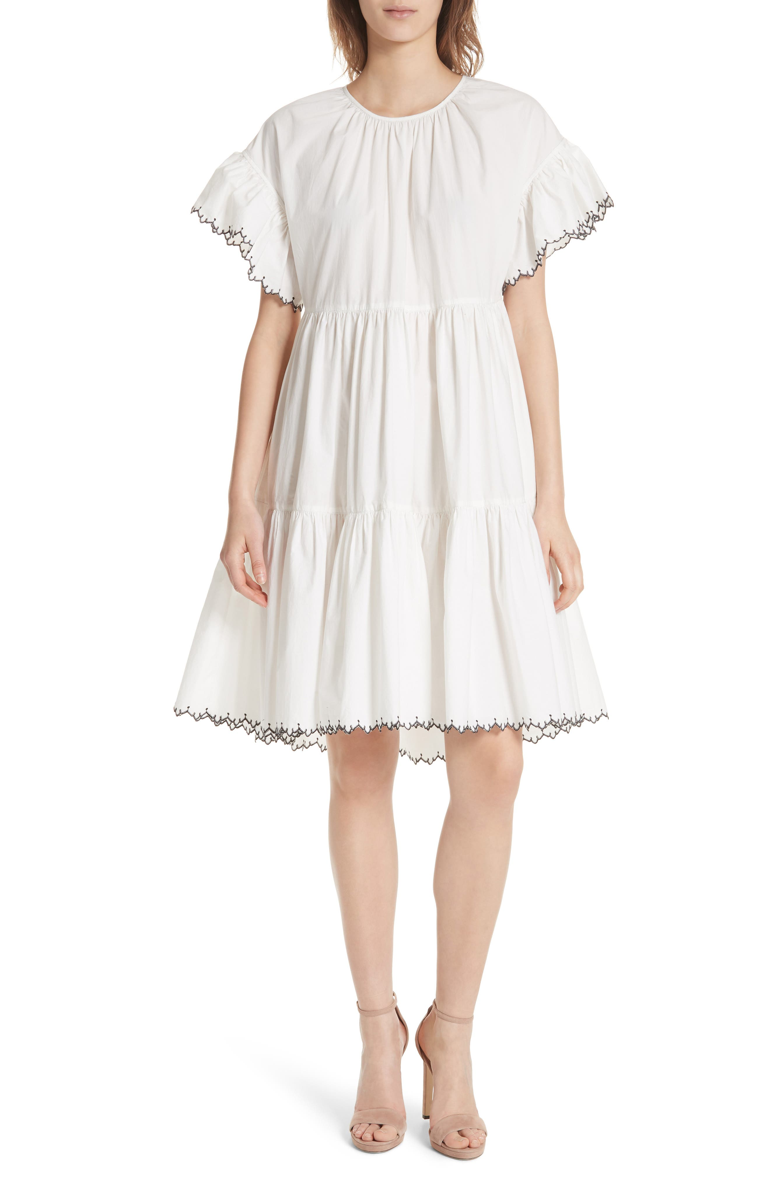 Rosemarie Cotton Poplin Dress,                         Main,                         color,