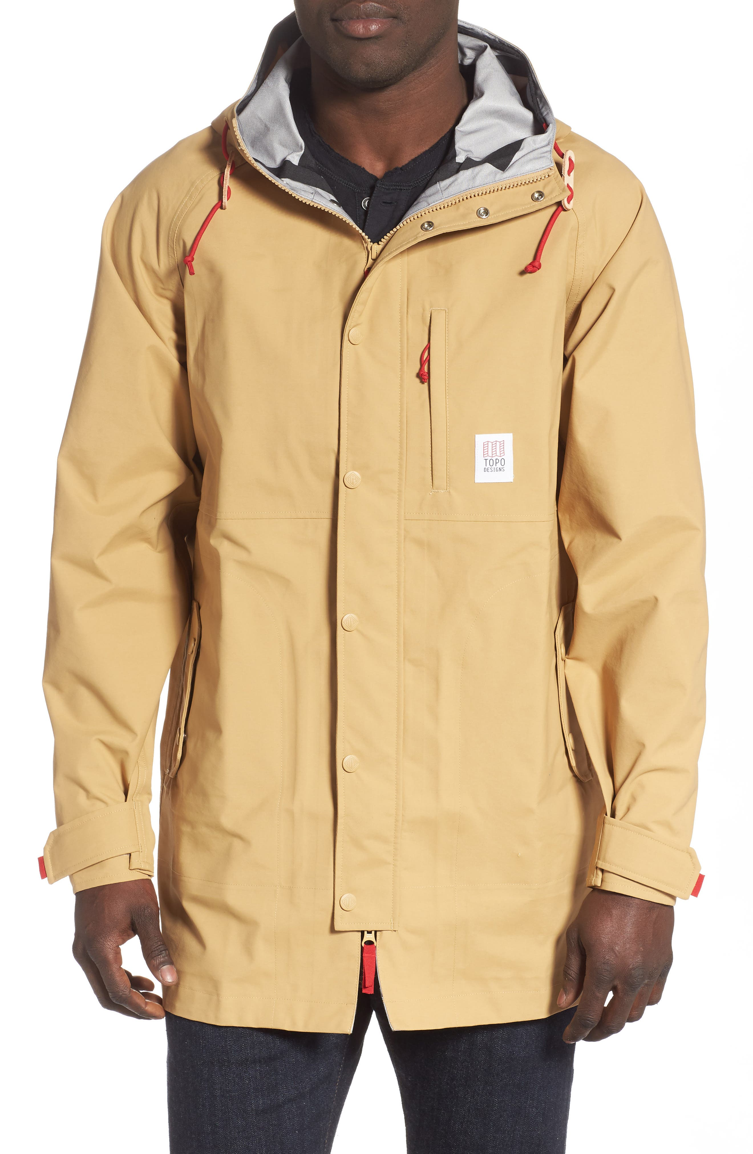 Topo Designs Waterproof Rain Jacket, Beige