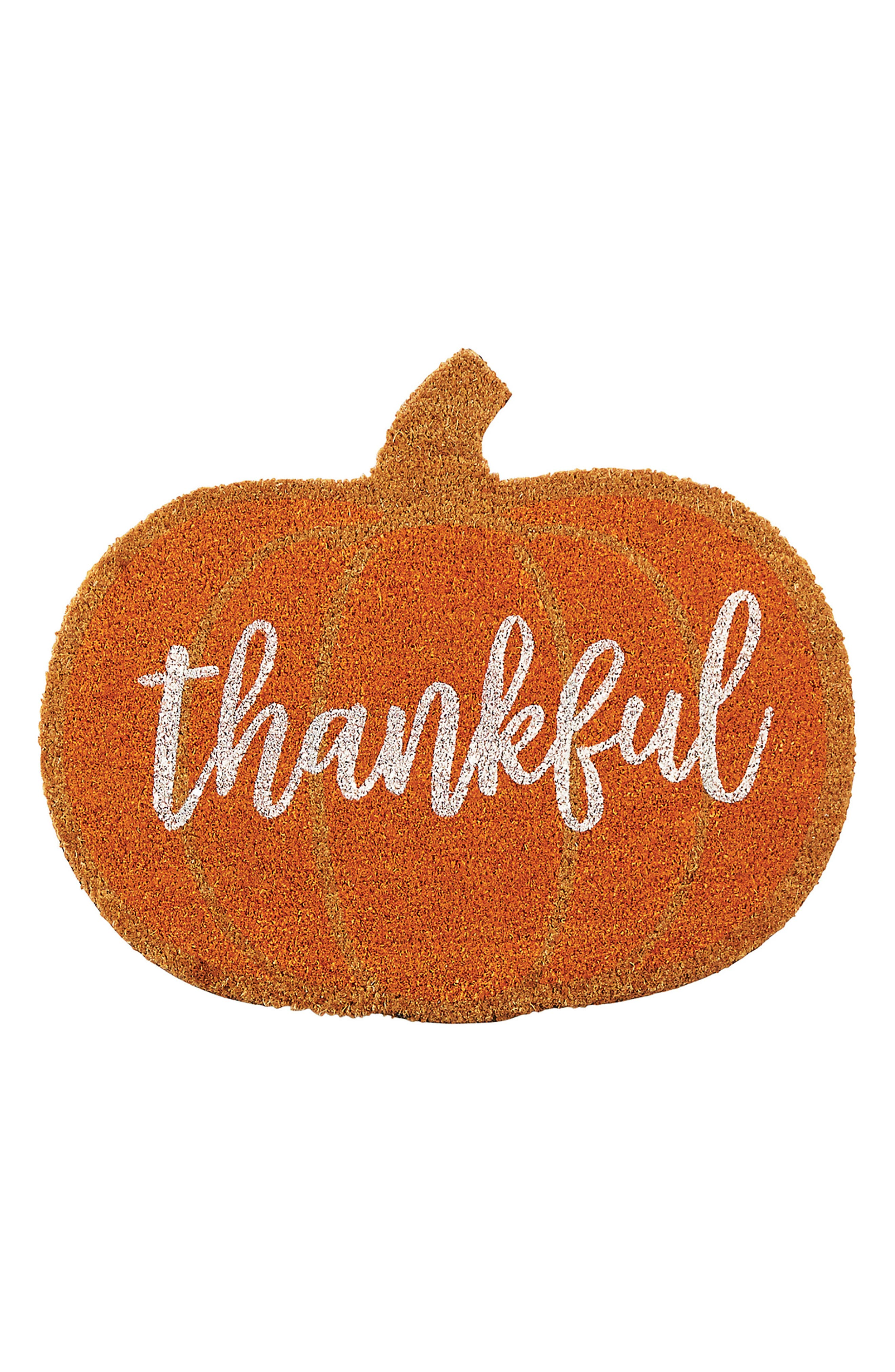 Thankful Coir Doormat,                             Main thumbnail 1, color,                             200