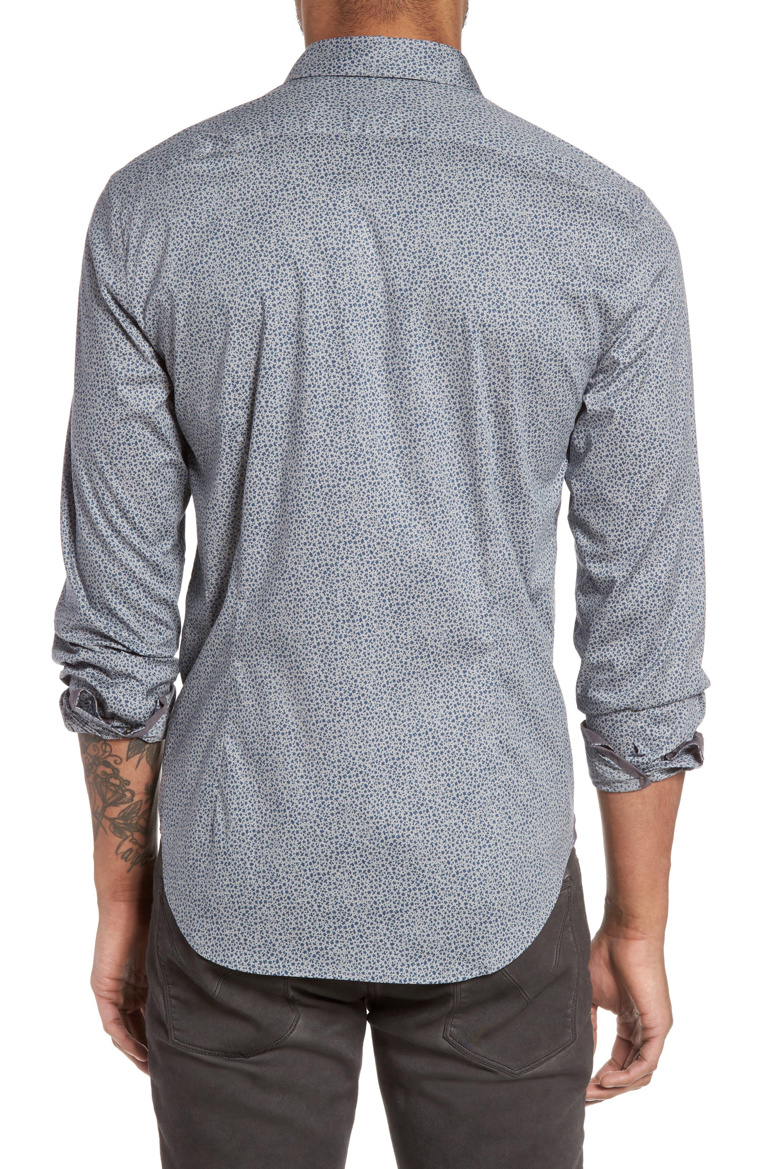 Slim Fit Print Sport Shirt,                             Alternate thumbnail 2, color,                             020