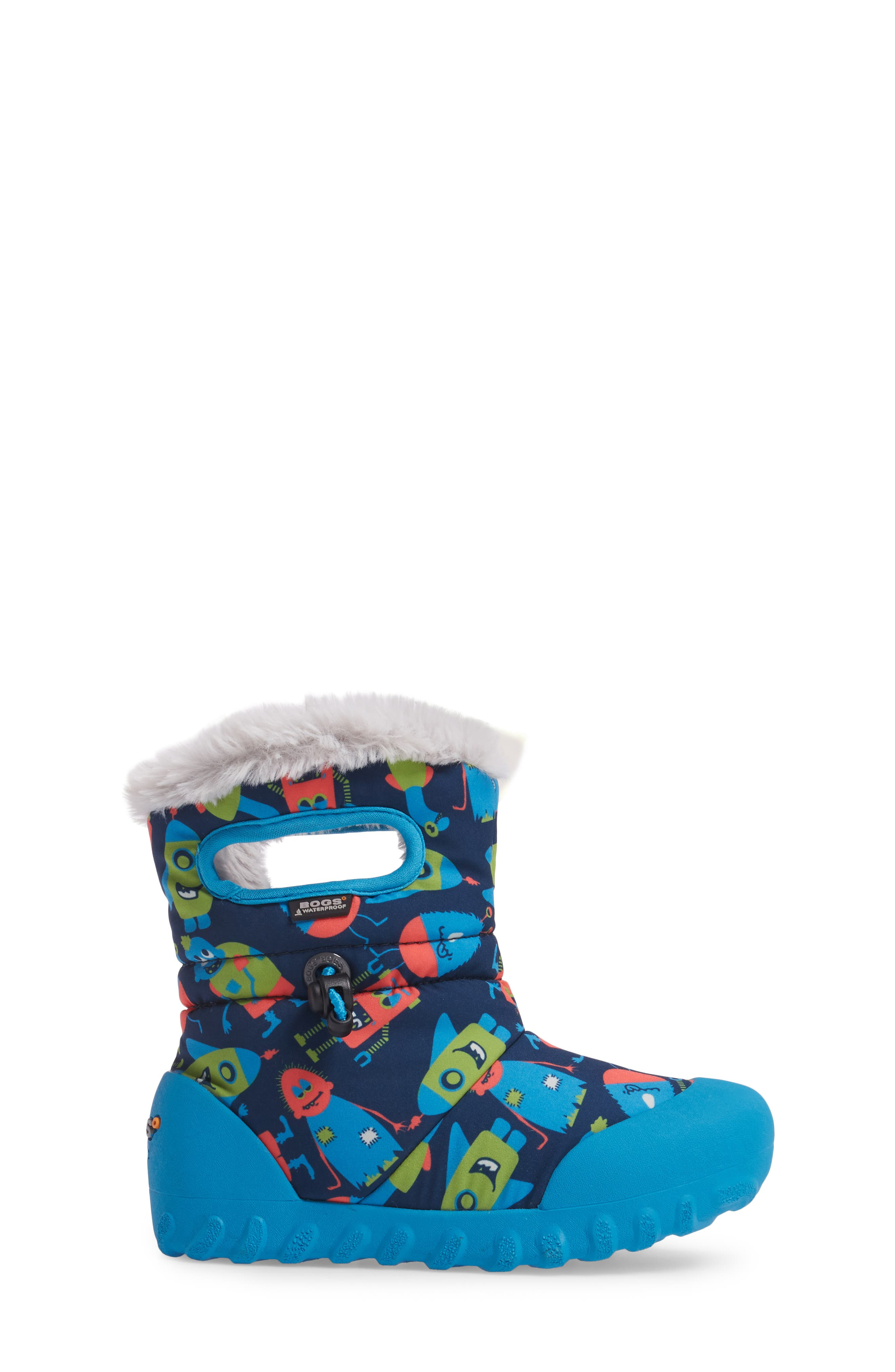 B-MOC Monsters Waterproof Insulated Faux Fur Boot,                             Alternate thumbnail 3, color,                             469