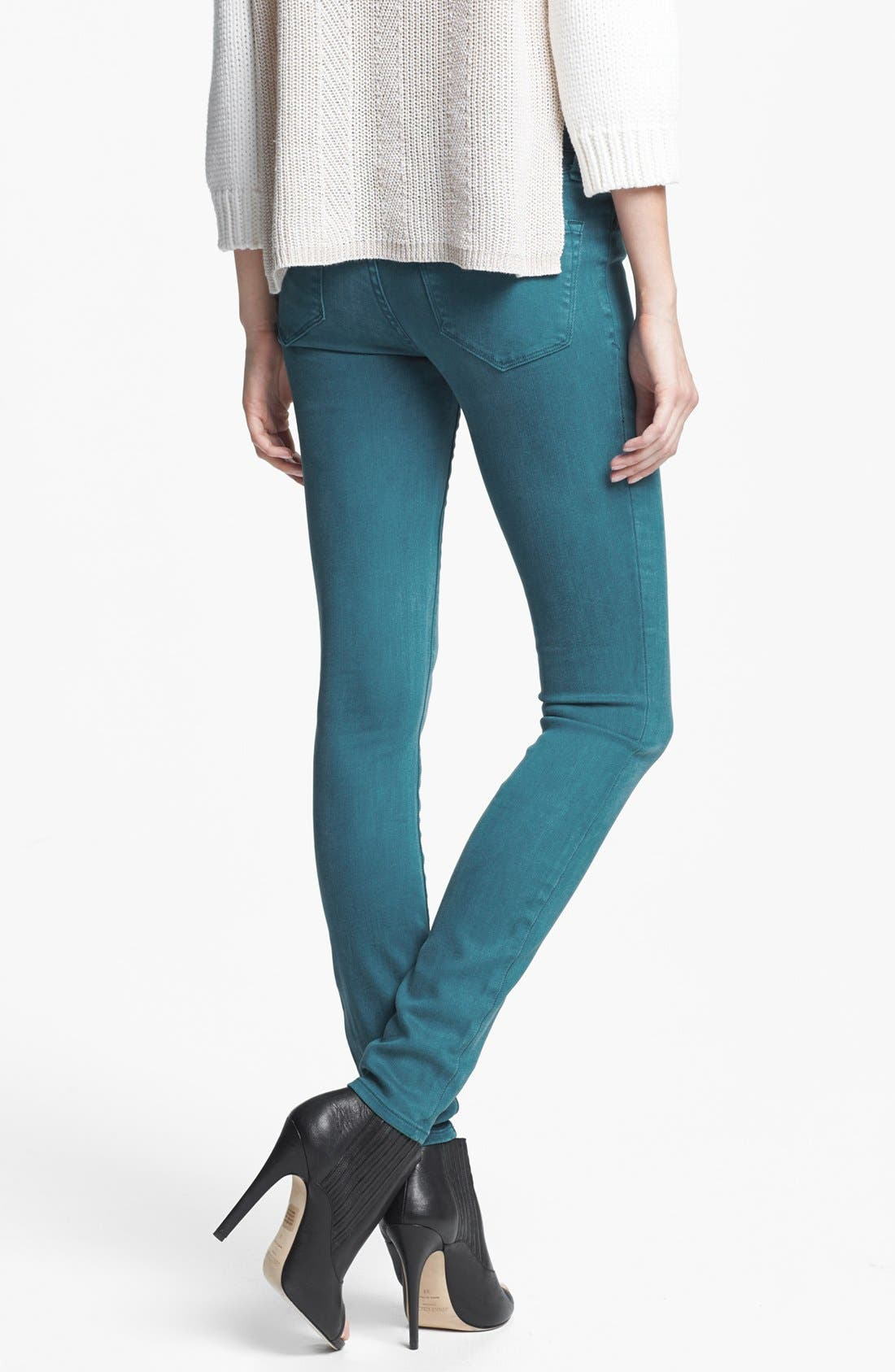 'Stick' Colored Skinny Stretch Jeans,                             Alternate thumbnail 3, color,                             493