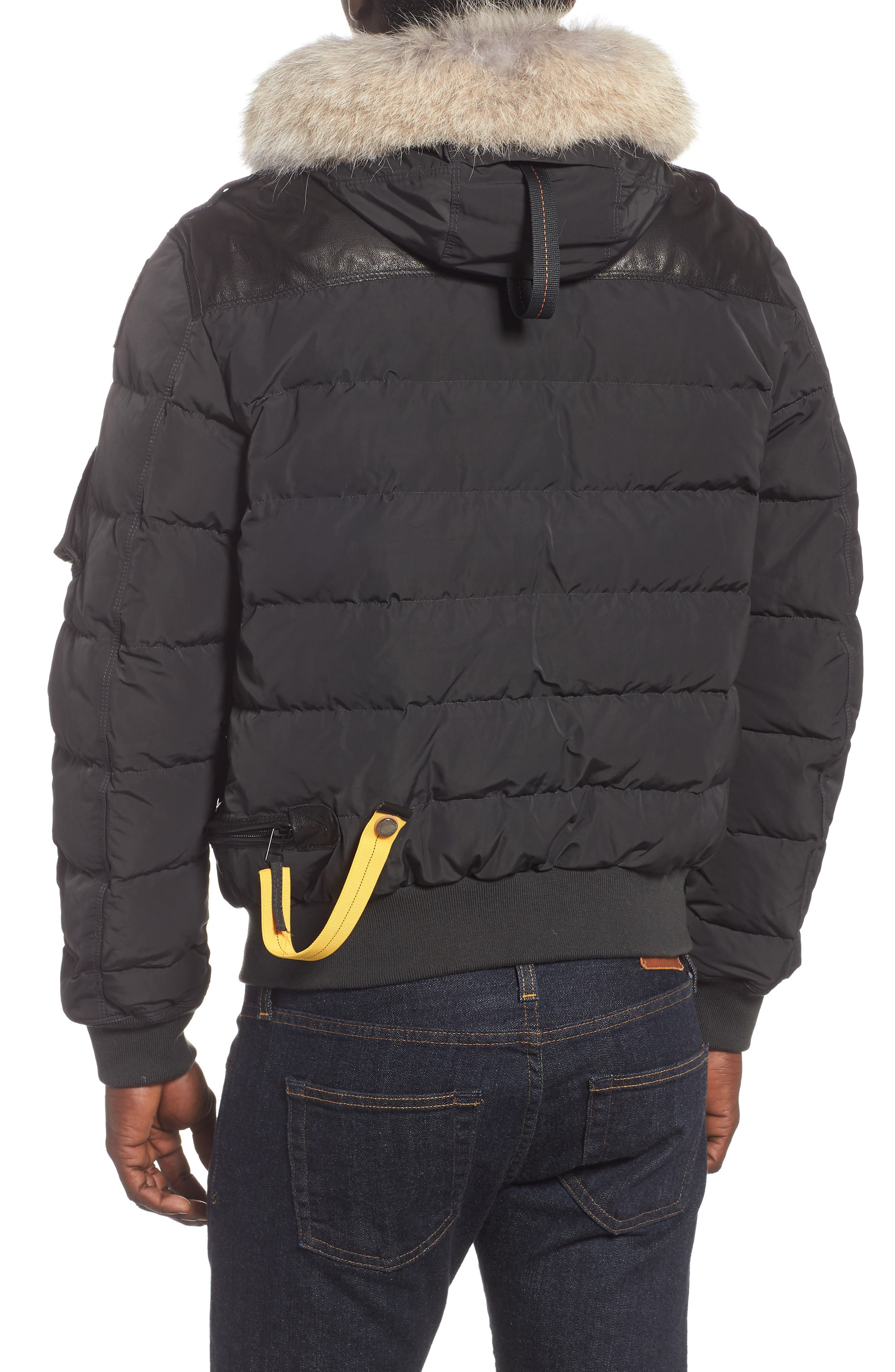 Grizzly Down Bomber Jacket with Genuine Coyote Fur Trim,                             Alternate thumbnail 2, color,                             060