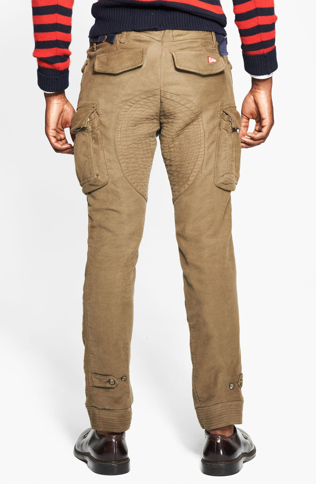 Skinny Moleskin Cotton Cargo Pants,                             Alternate thumbnail 3, color,                             301