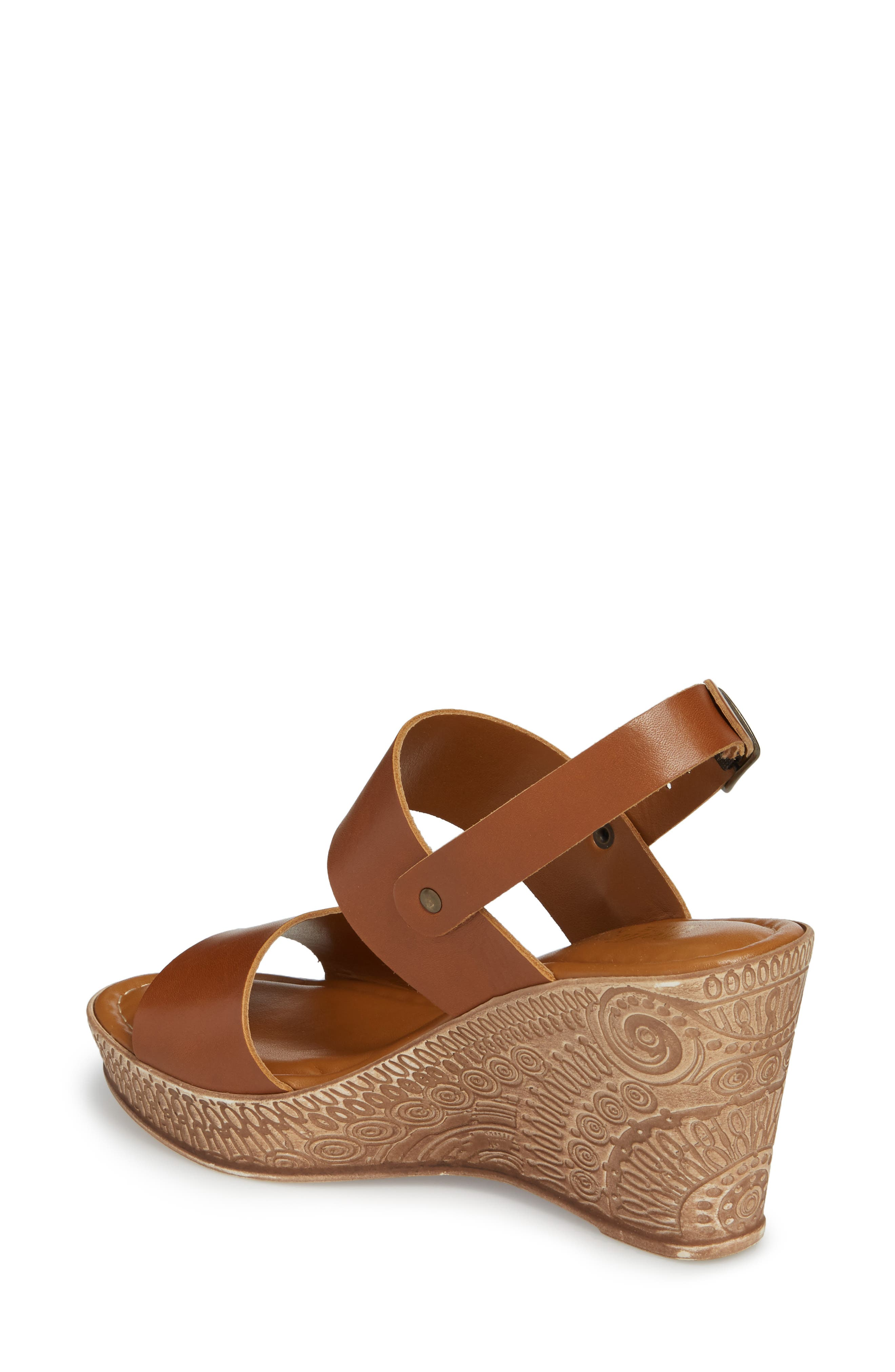 Cor Wedge Sandal,                             Alternate thumbnail 2, color,                             WHISKEY LEATHER