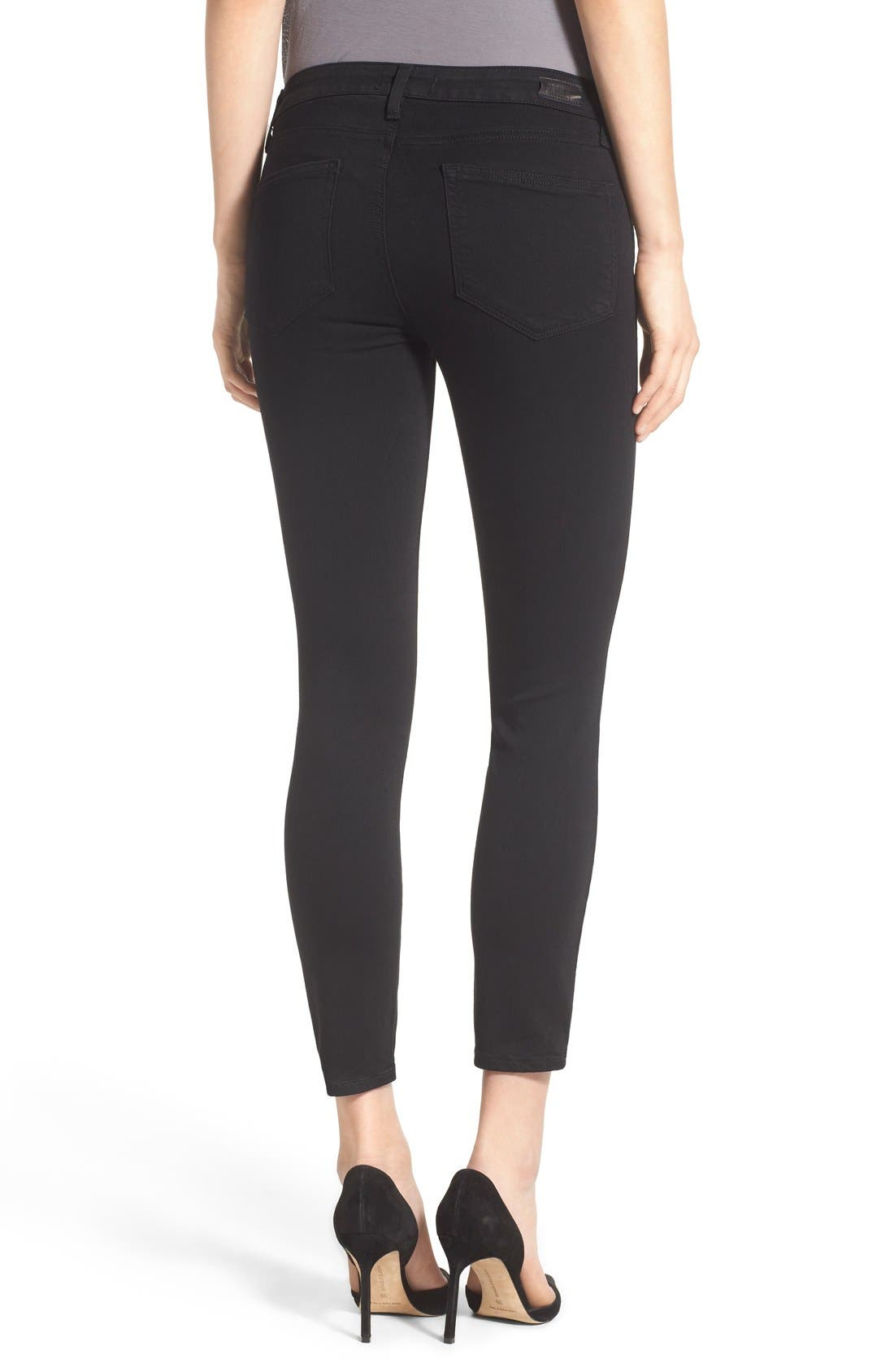 Transcend - Verdugo Crop Skinny Jeans,                             Alternate thumbnail 7, color,                             BLACK