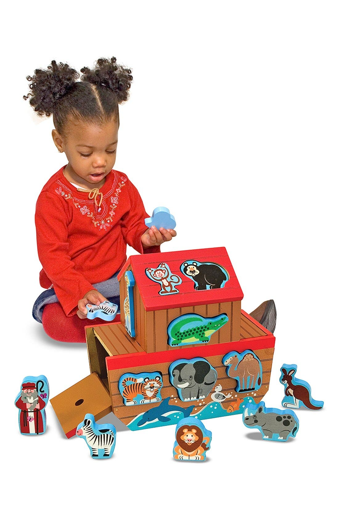 Toddler Melissa  Doug Noahs Ark Shape Sorter