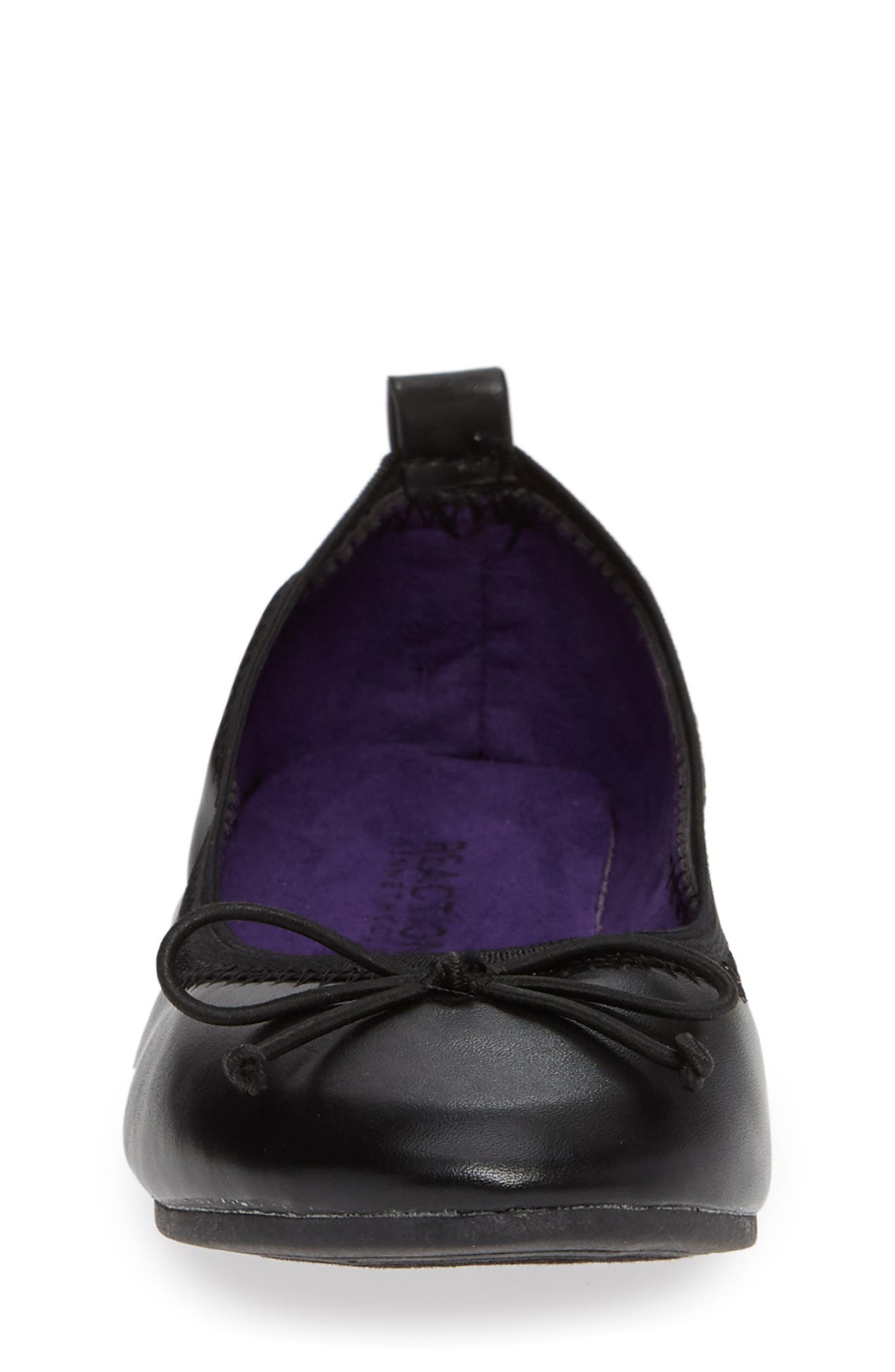 Copy Tap Ballet Flat,                             Alternate thumbnail 4, color,                             BLACK