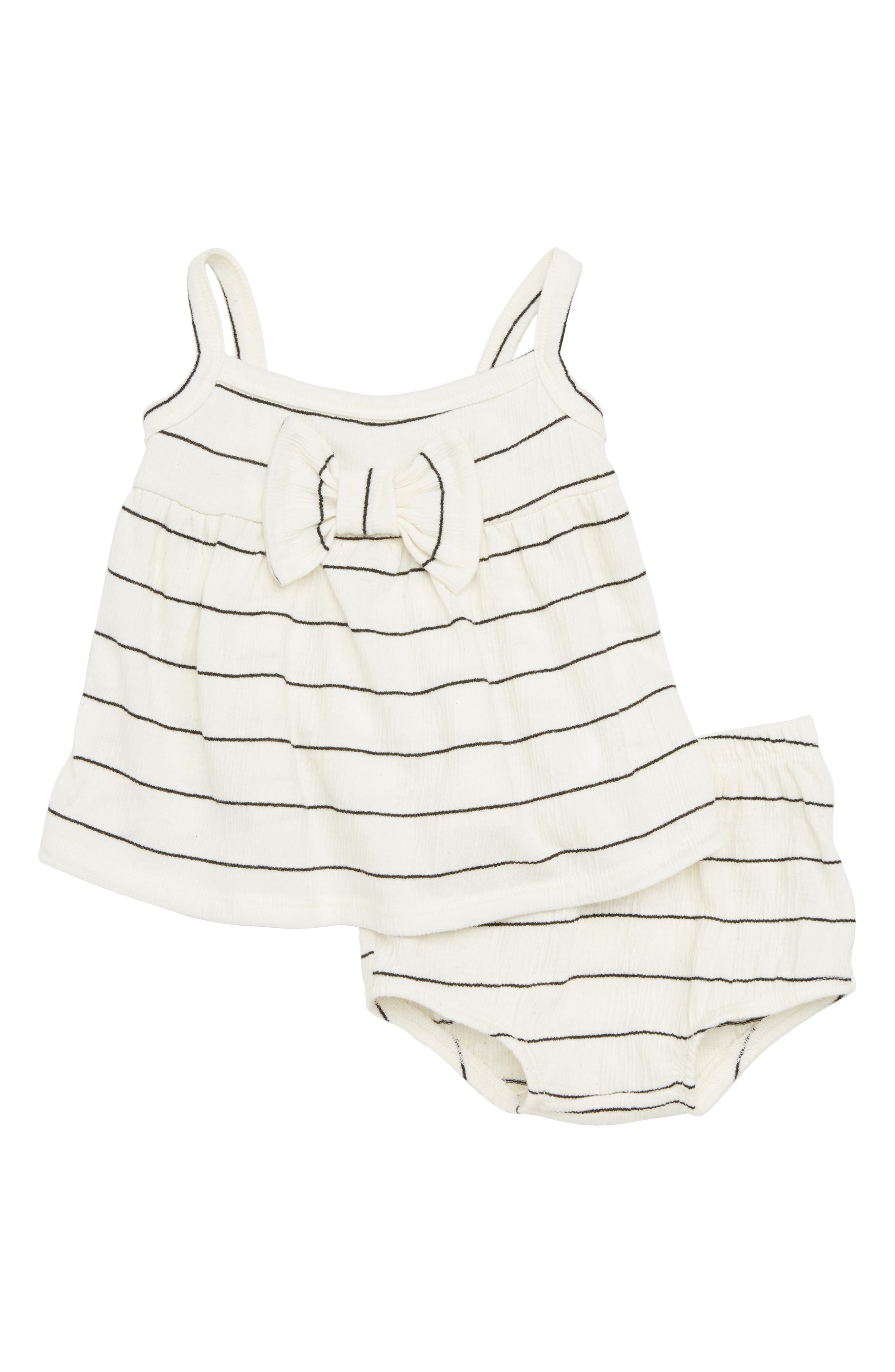 Stripe Swing Top & Bloomers Set,                             Main thumbnail 1, color,                             IVORY STRIPE