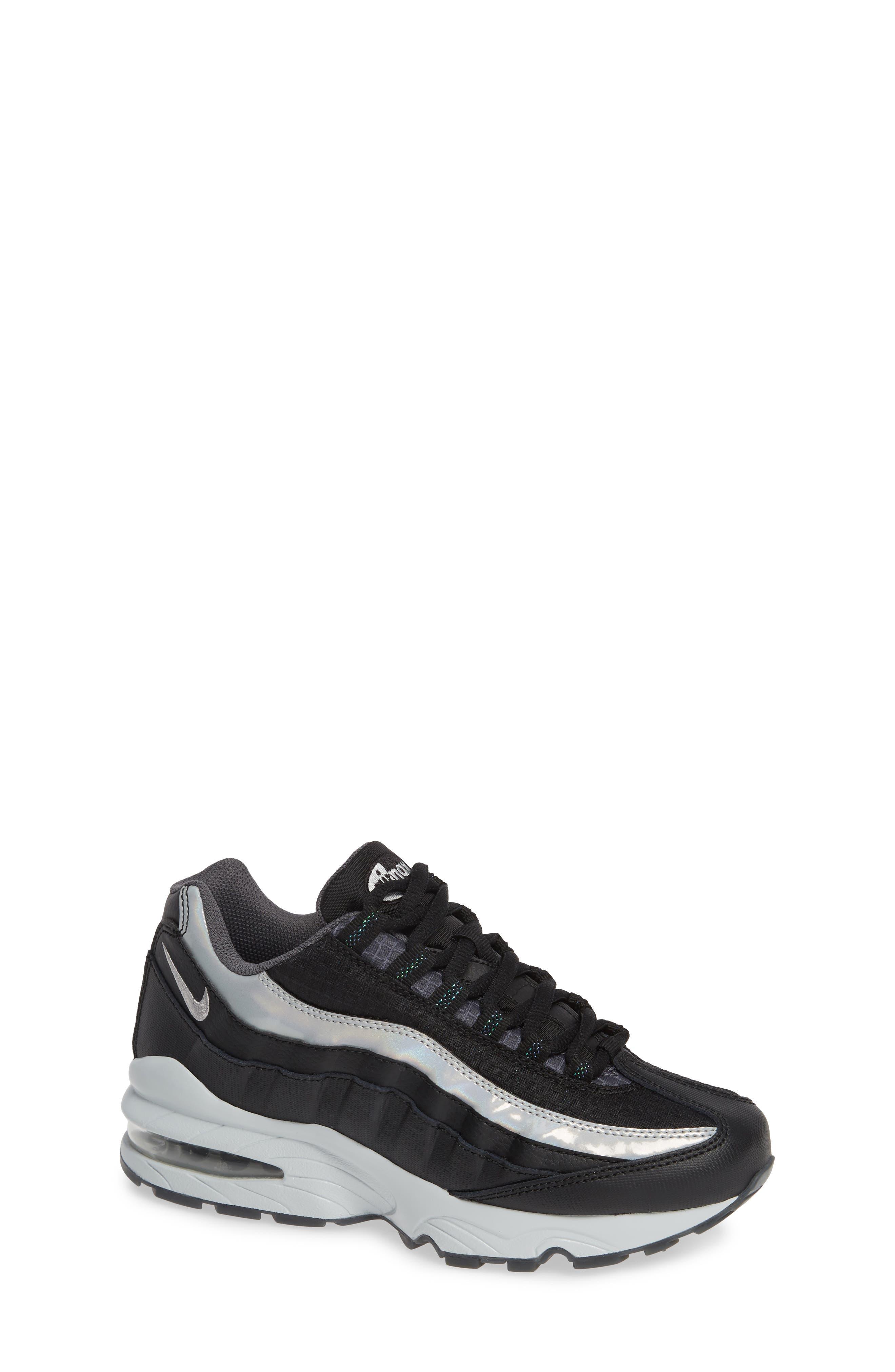 Air Max 95 Y2K Sneaker,                             Main thumbnail 1, color,                             BLACK METALLIC SILVER
