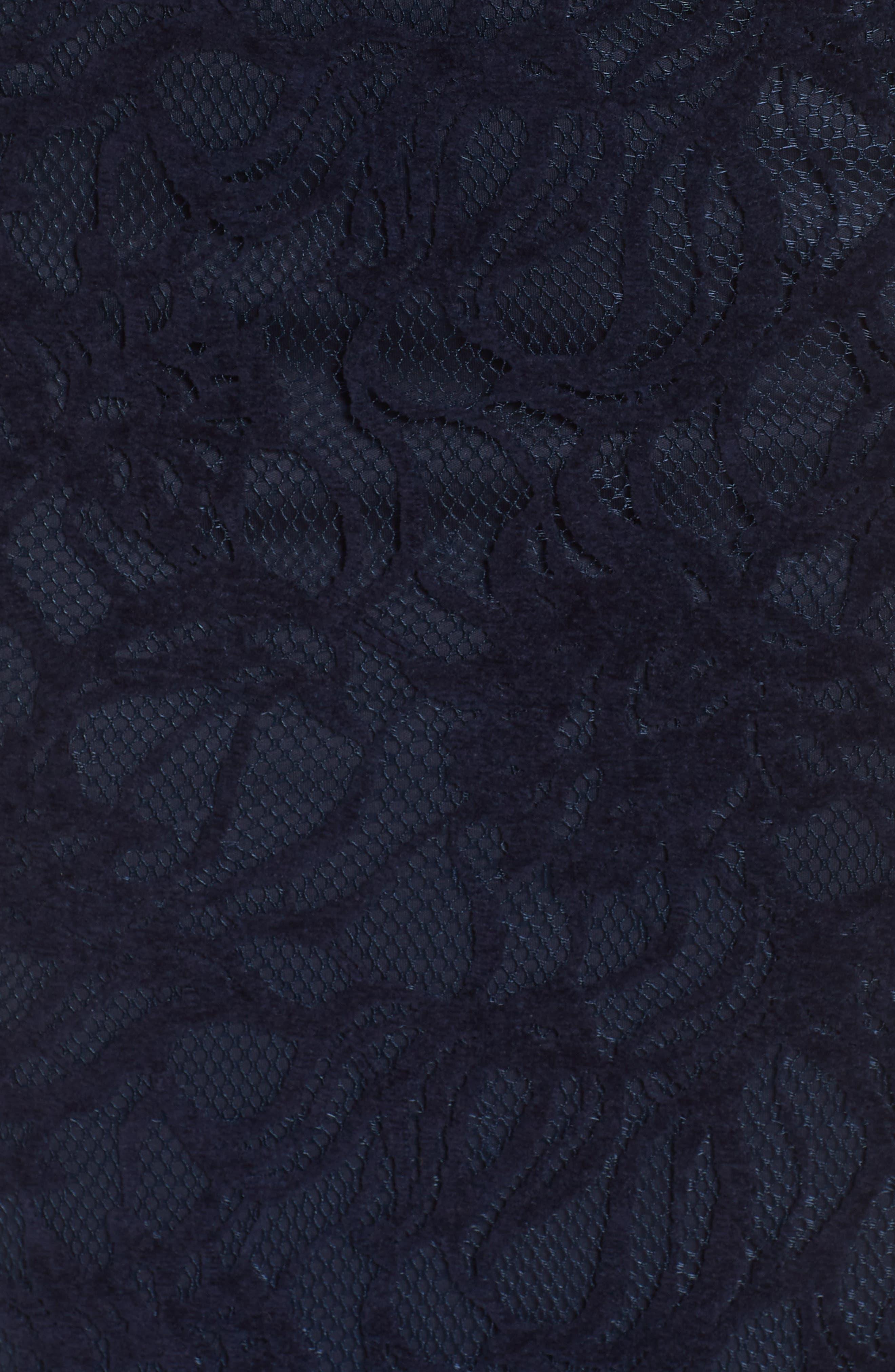 Burnout Lace Gown,                             Alternate thumbnail 6, color,                             NAVY