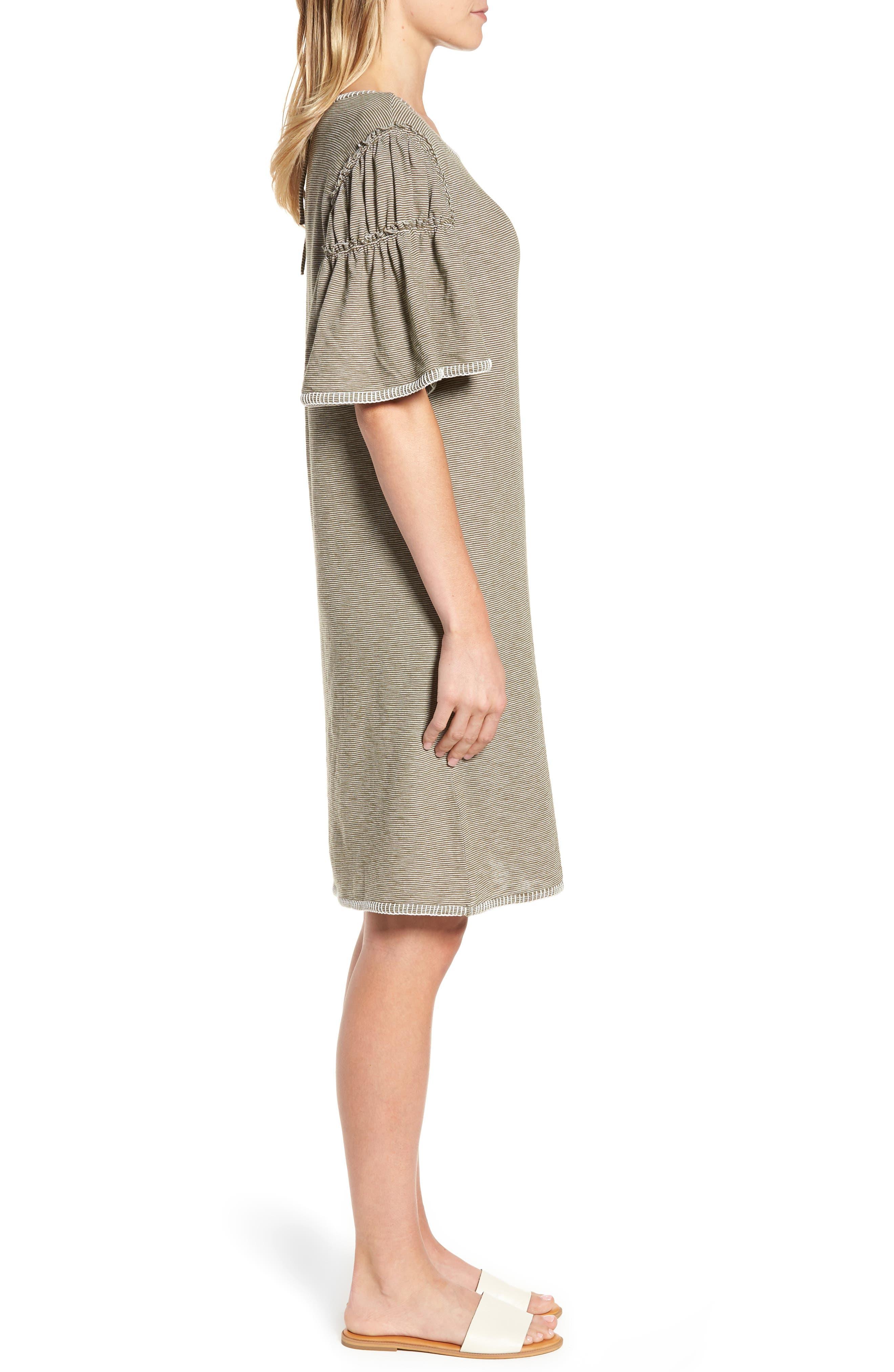 Flounce Sleeve Knit Dress,                             Alternate thumbnail 6, color,