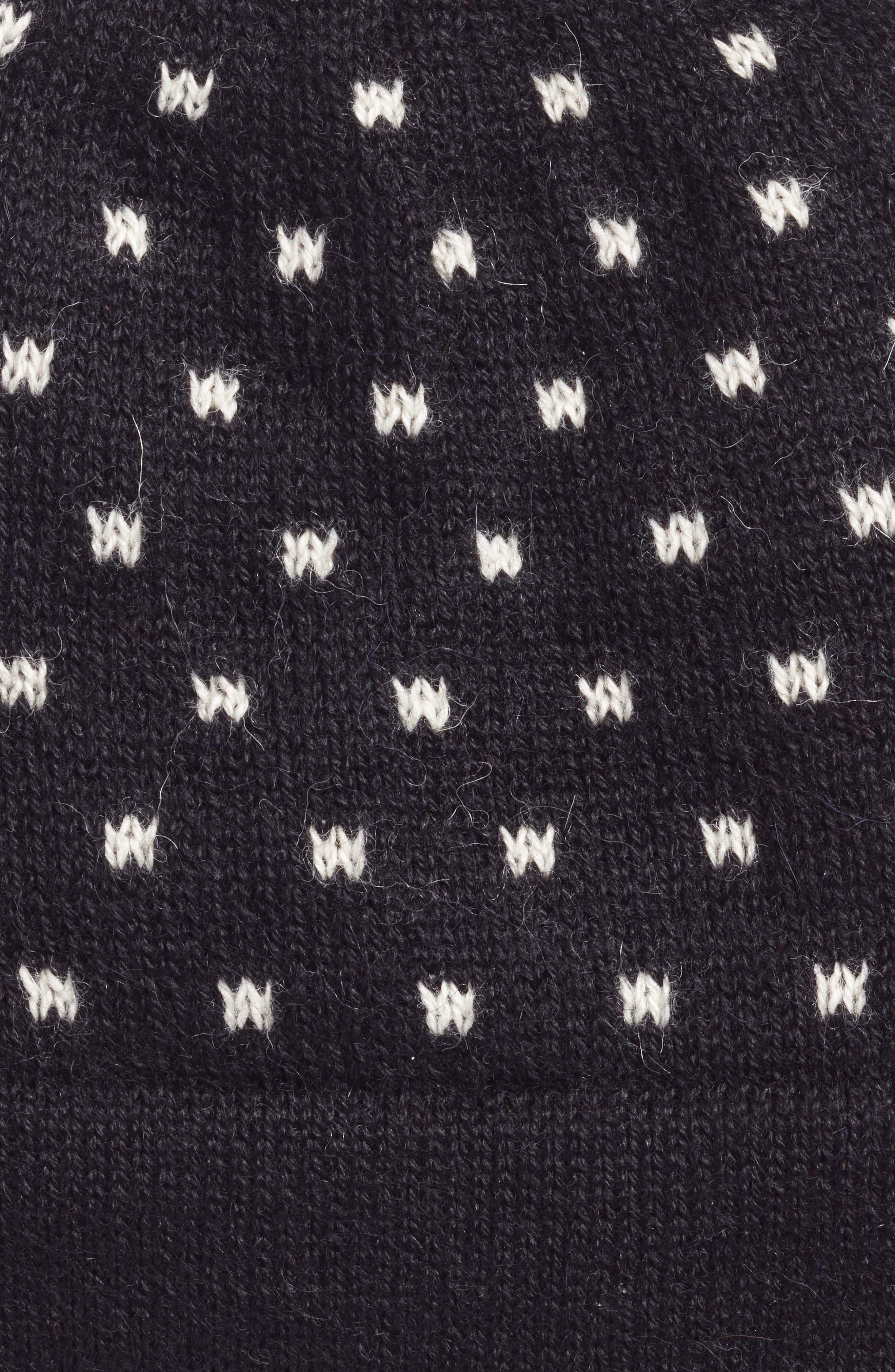 Broadway Alpaca Beanie,                             Alternate thumbnail 2, color,                             BLACK/ WHITE