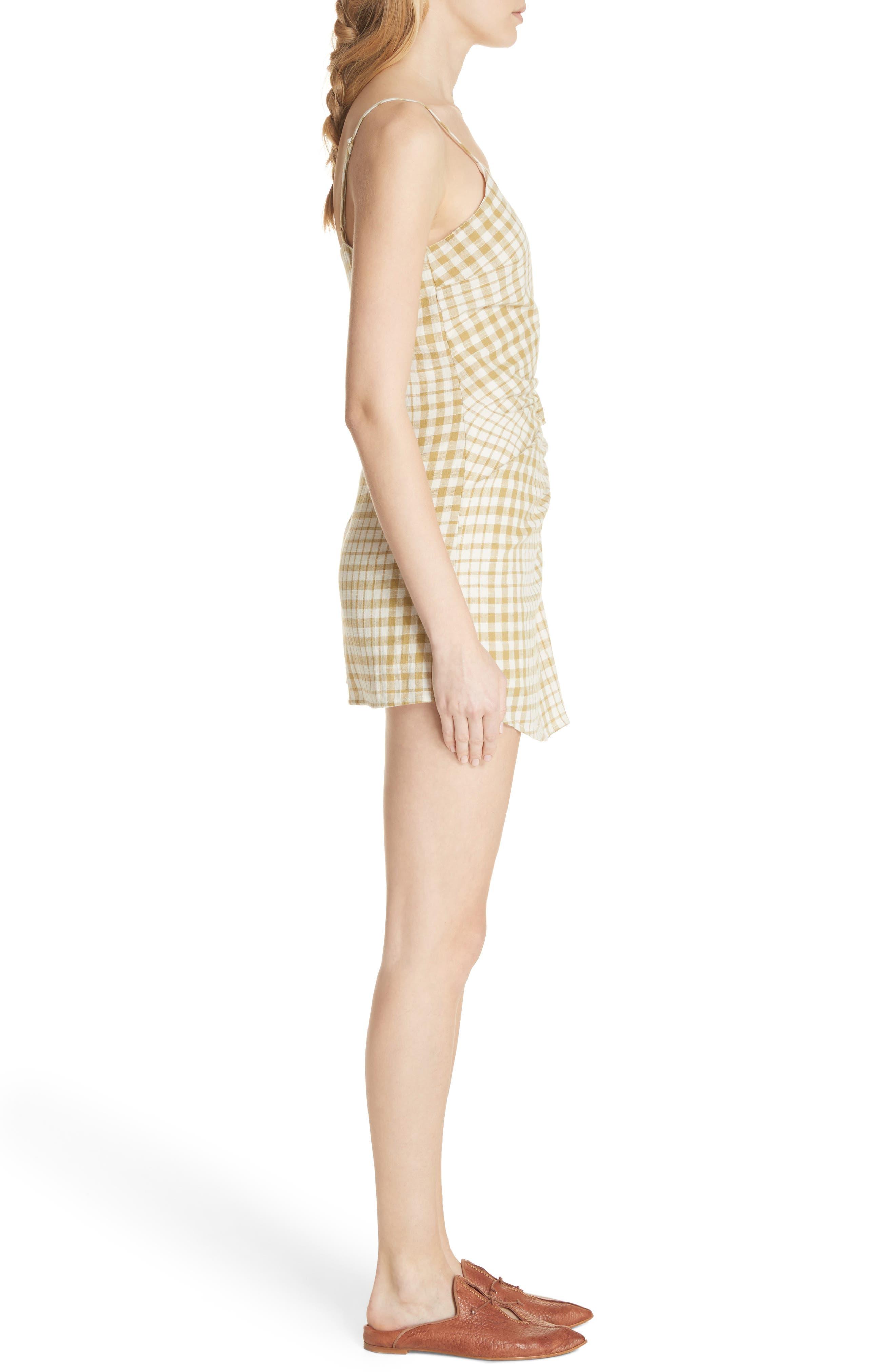 Nodia Check Wrap Minidress,                             Alternate thumbnail 6, color,