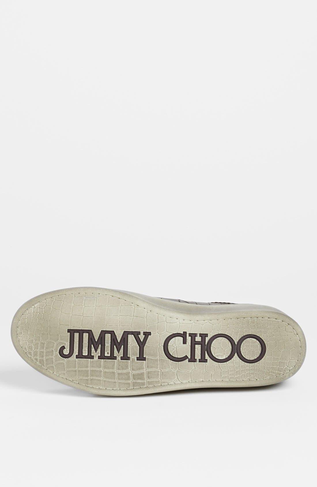 JIMMY CHOO,                             'Portman' Sneaker,                             Alternate thumbnail 3, color,                             001