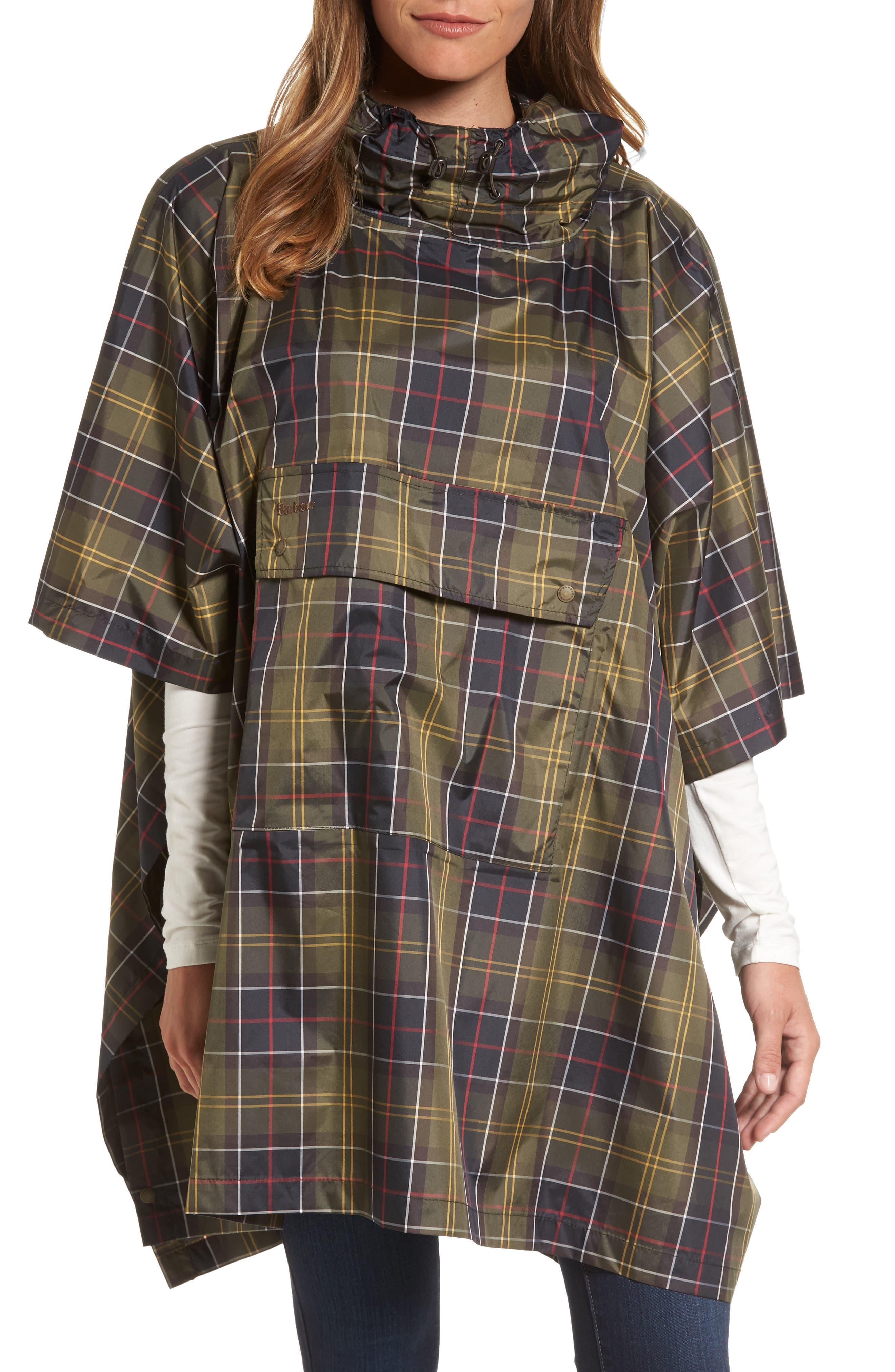 Astern Waterproof Hooded Poncho,                         Main,                         color, 462