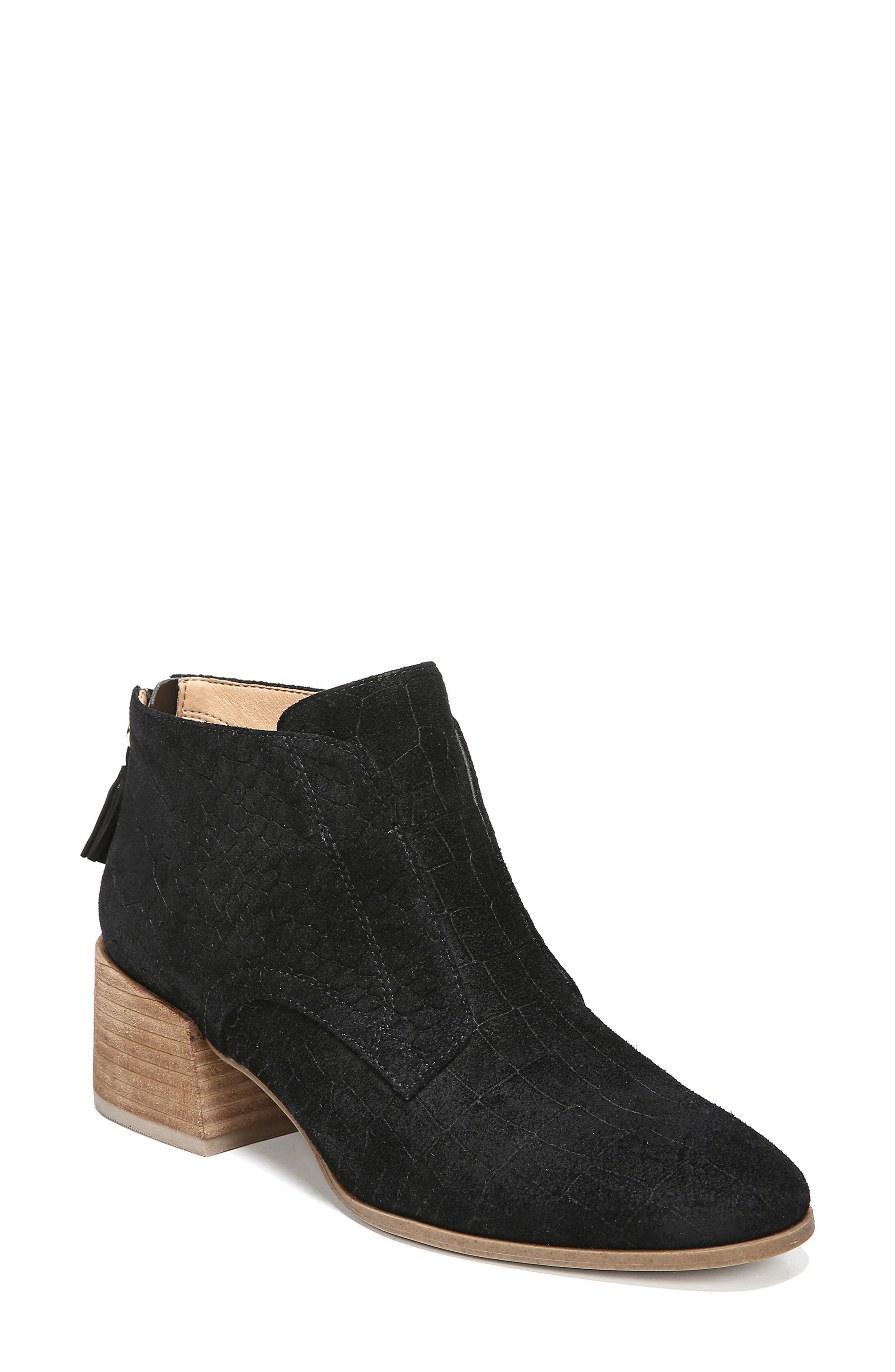Bianca Bootie,                             Main thumbnail 1, color,                             BLACK LEATHER