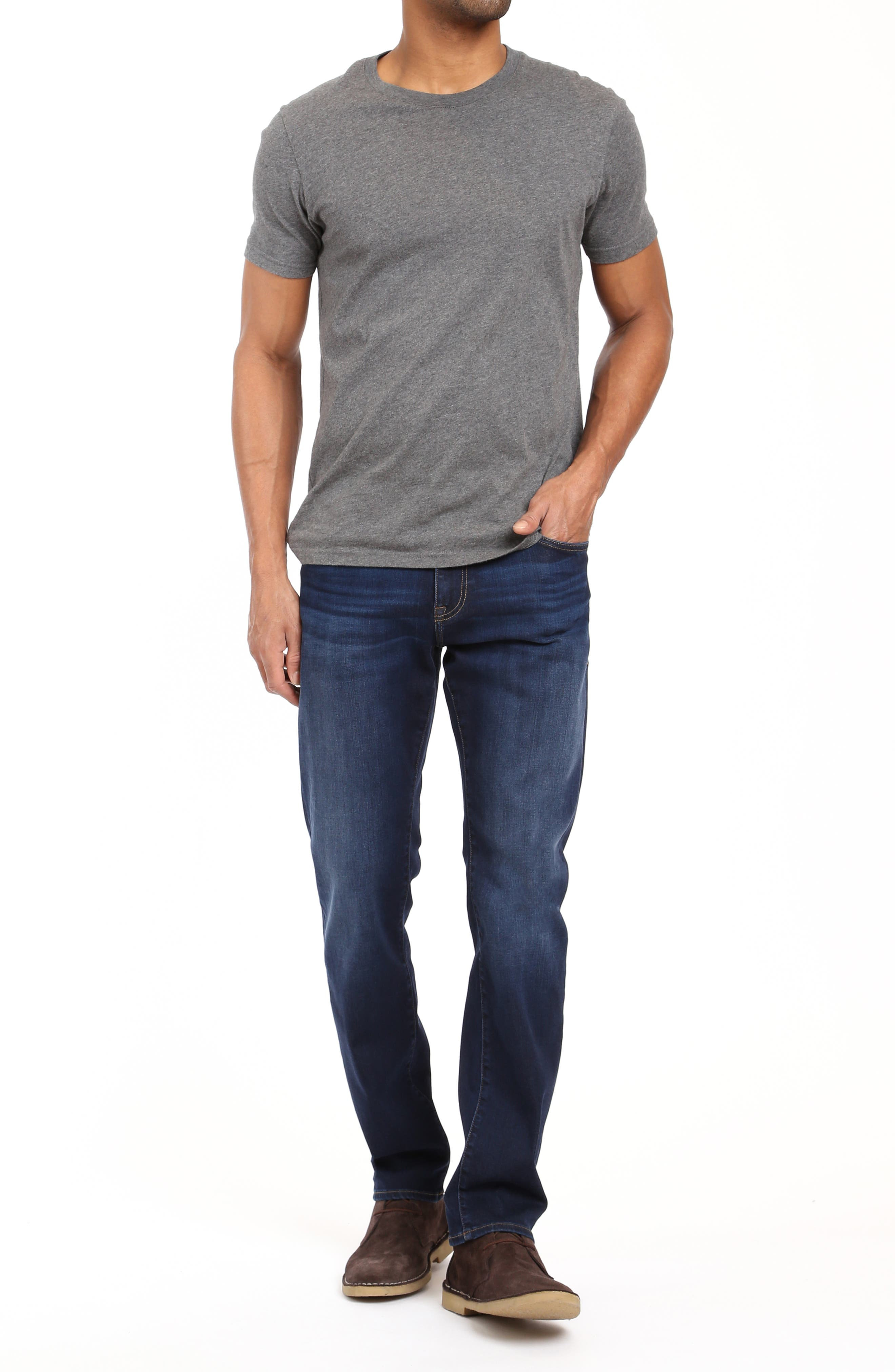 Marcus Slim Straight Leg Jeans,                             Alternate thumbnail 4, color,                             DEEP SOFT MOVE