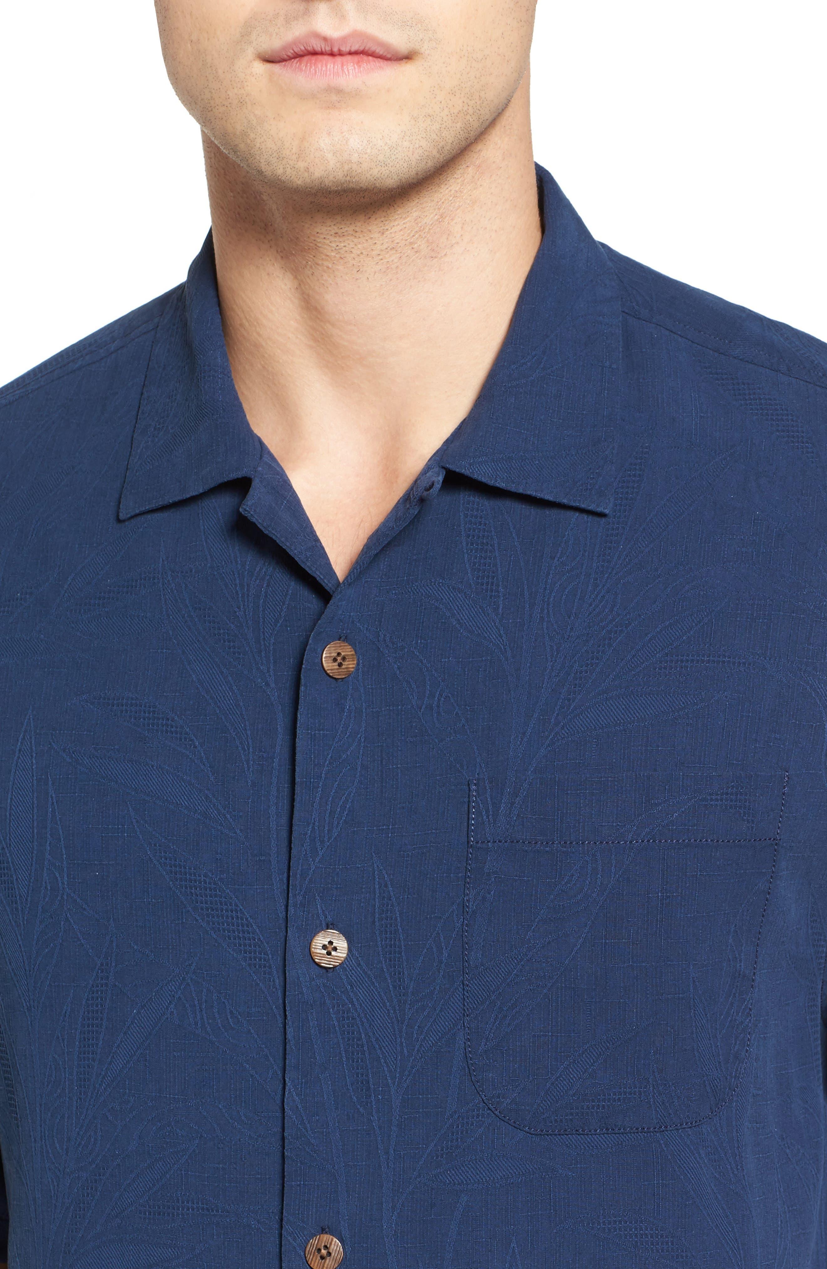 Islander Fronds Silk Camp Shirt,                             Alternate thumbnail 34, color,