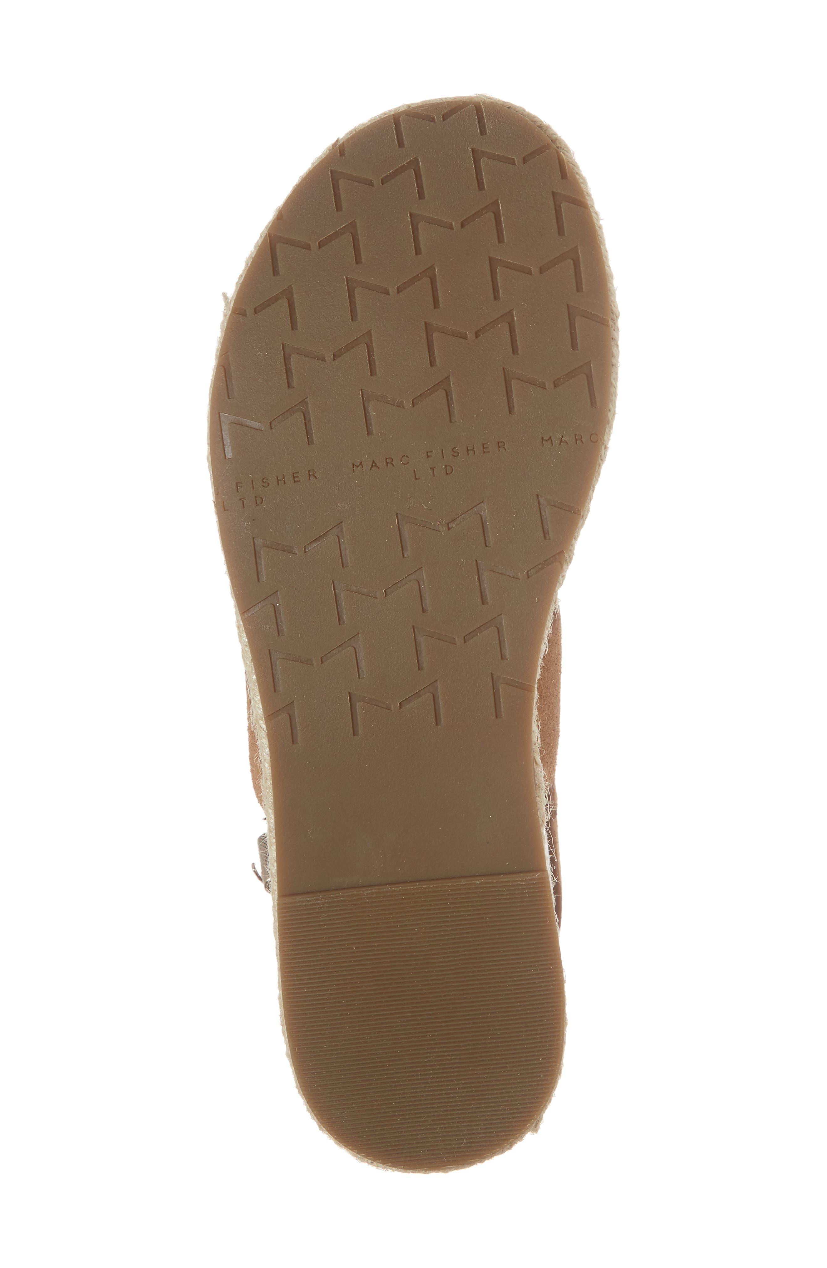 Oria Espadrille Platform Sandal,                             Alternate thumbnail 6, color,                             COGNAC SUEDE