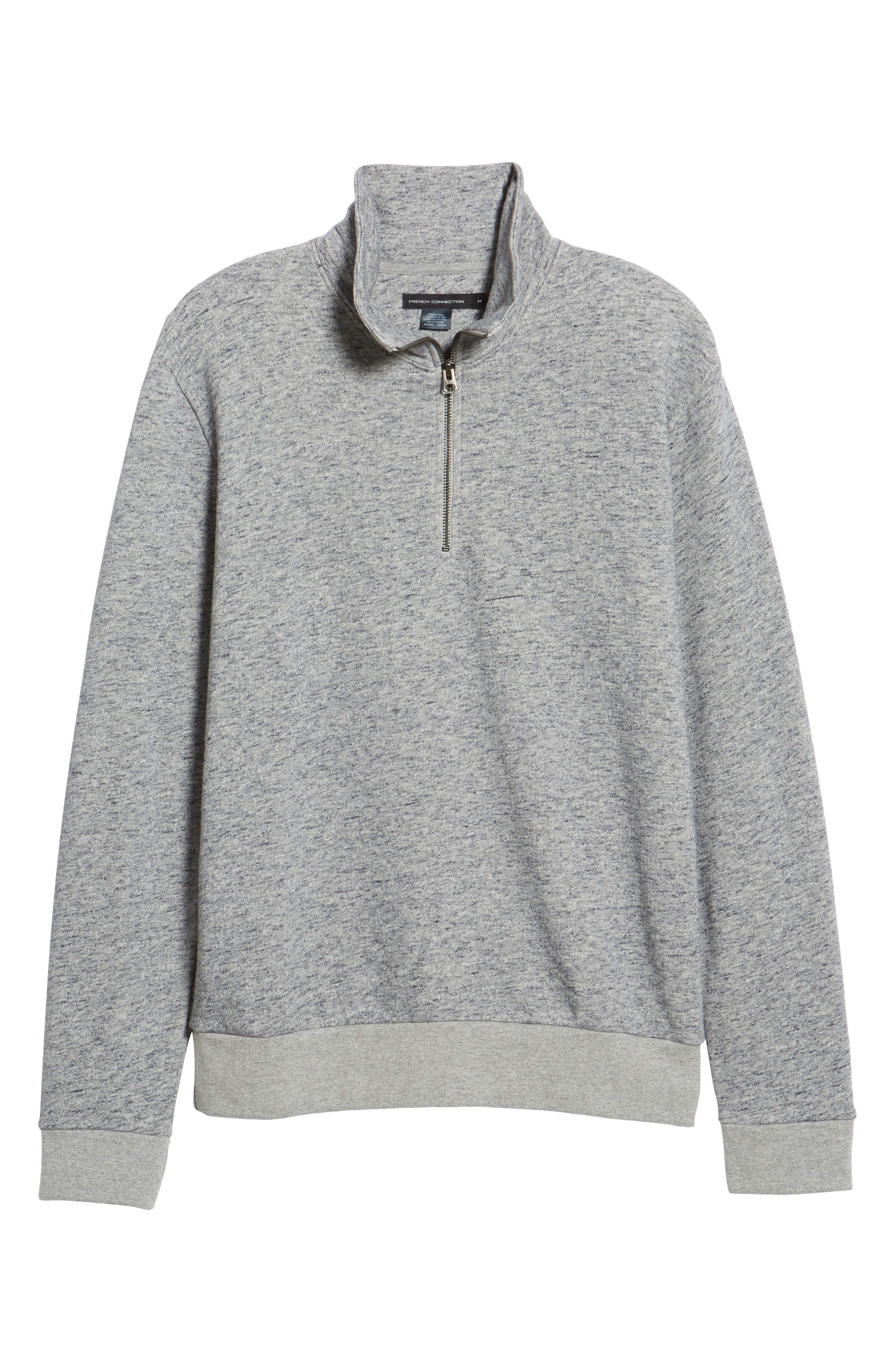 Winning Quarter Zip Regular Fit Sweatshirt,                             Alternate thumbnail 6, color,                             GREY MOULINE