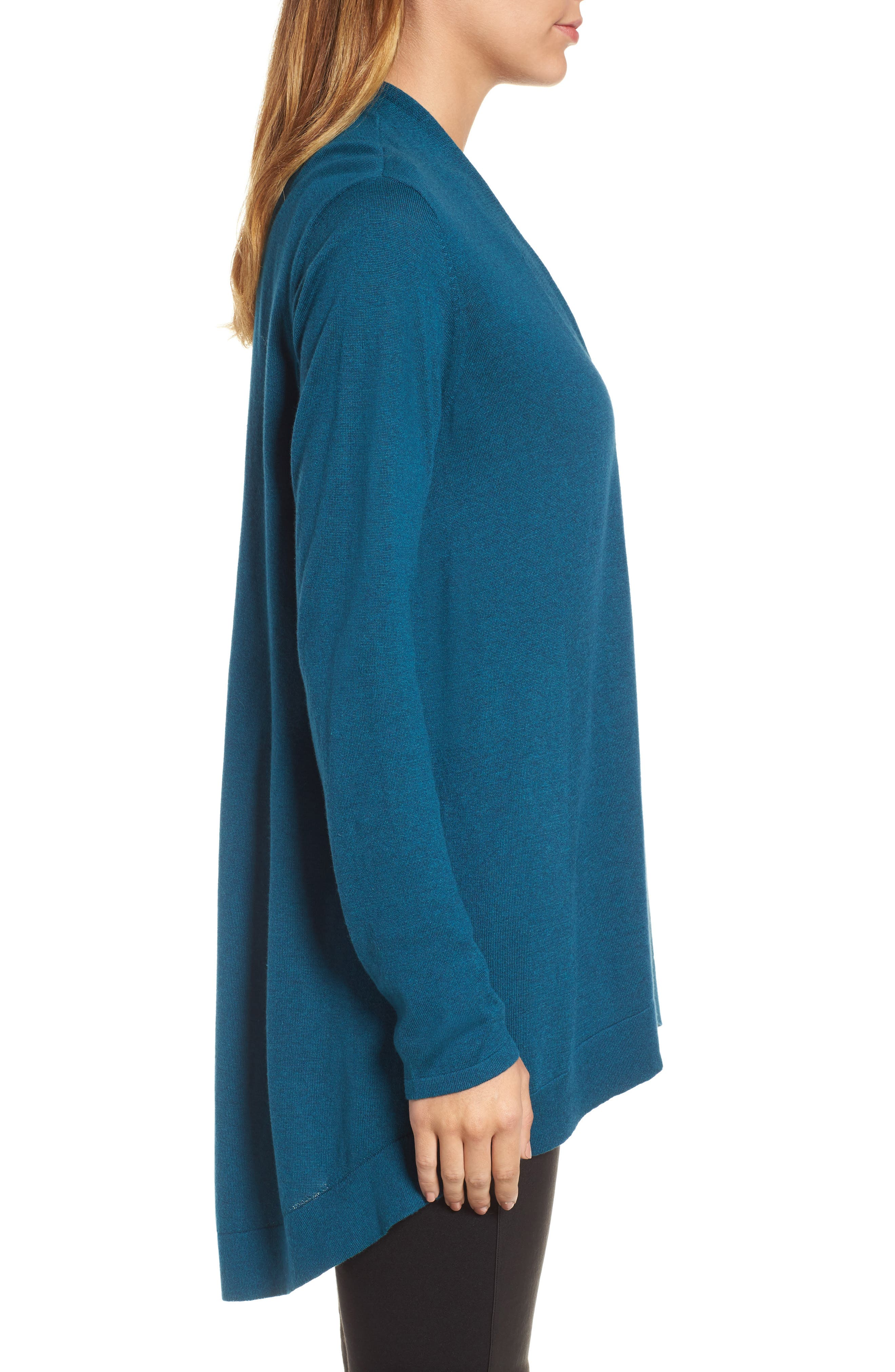Shaped Tencel<sup>®</sup> Lyocell Blend Cardigan,                             Alternate thumbnail 10, color,