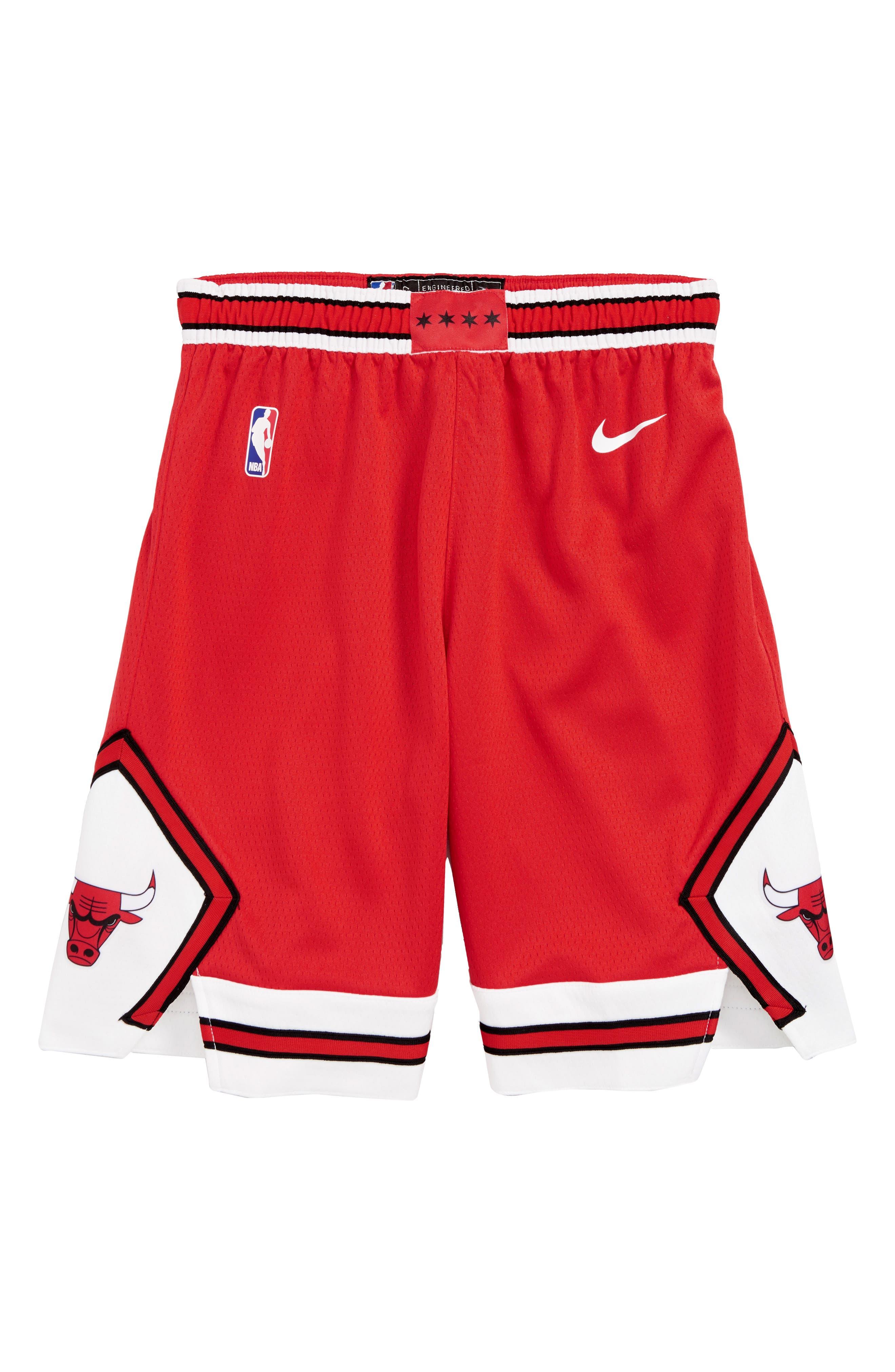 NIKE,                             Icon Chicago Bulls Basketball Shorts,                             Main thumbnail 1, color,                             UNIVERSITY RED