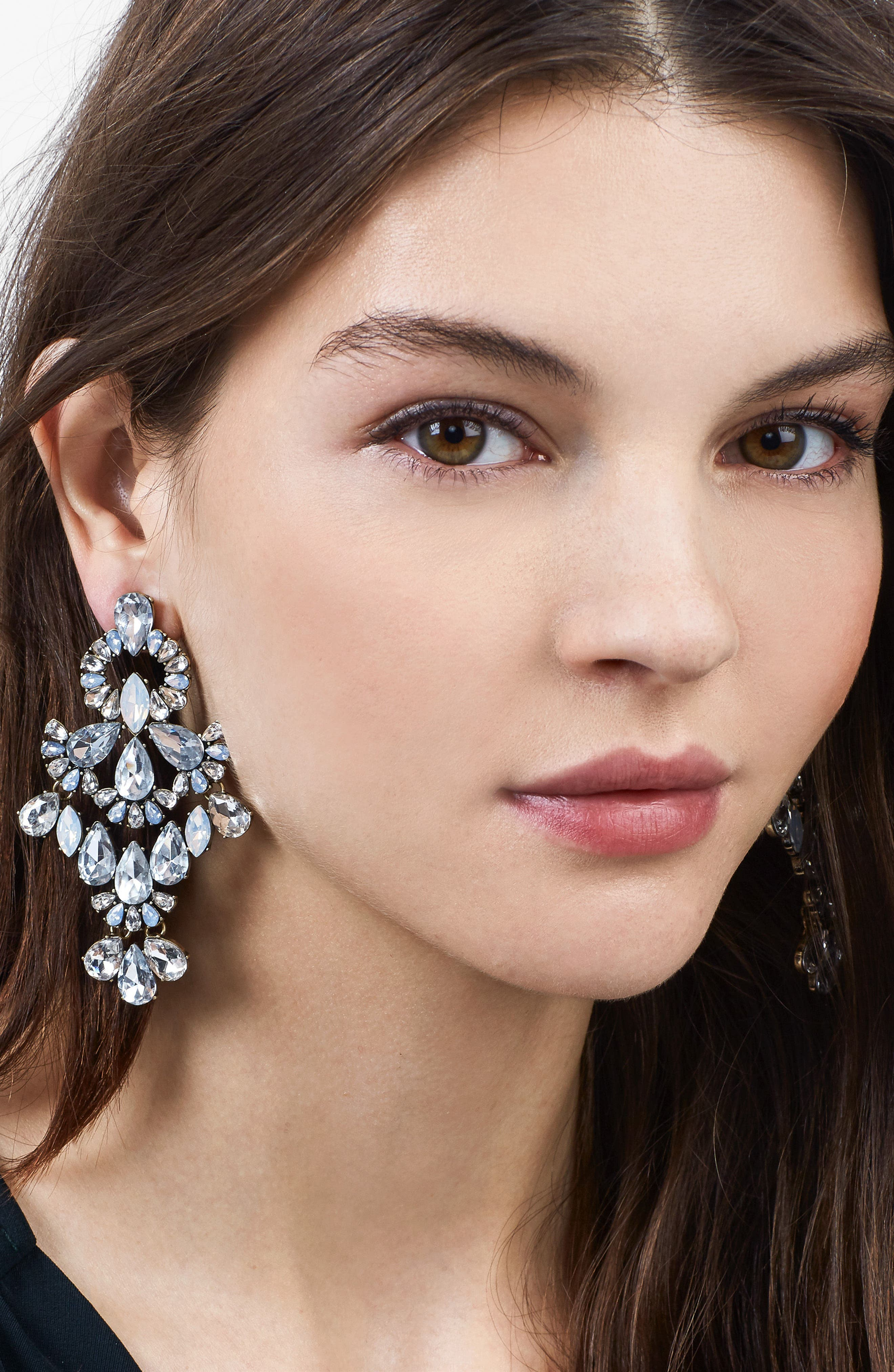 Symphony Crystal Statement Earrings,                             Alternate thumbnail 2, color,                             040