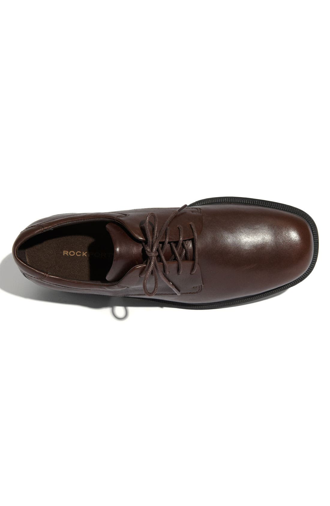 'Margin' Oxford,                             Alternate thumbnail 3, color,                             CHOCOLATE LEATHER