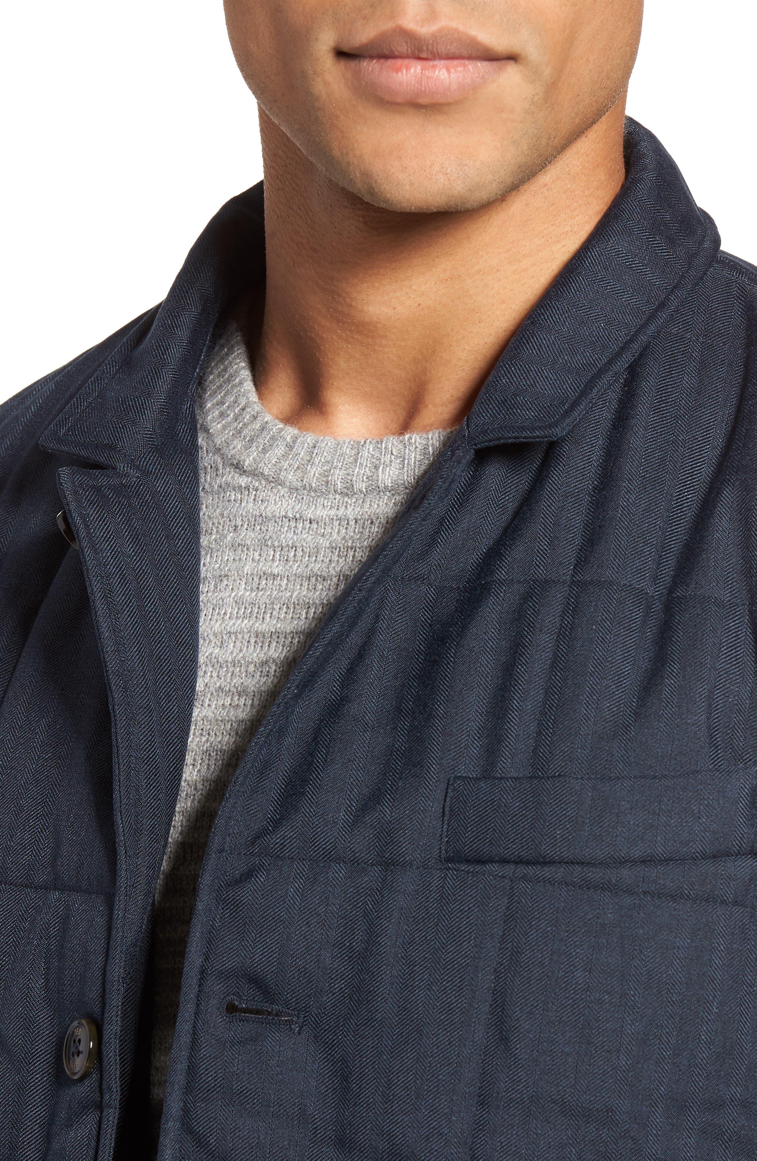 Jasper Trim Fit Quilted Jacket with Removable Bib,                             Alternate thumbnail 10, color,