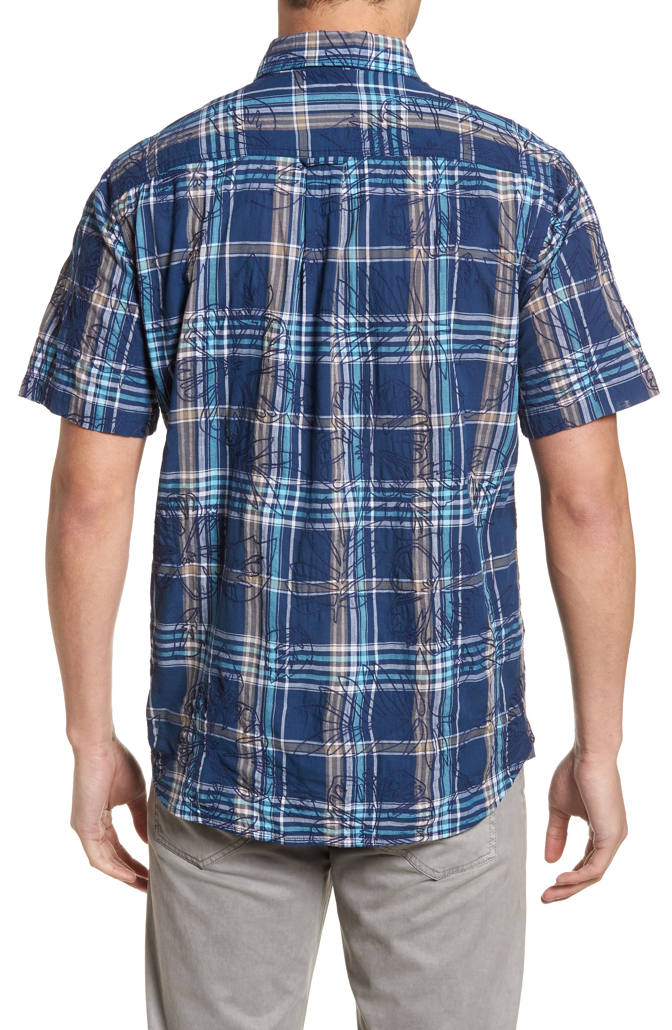Palazzo Regular Fit Plaid Sport Shirt,                             Alternate thumbnail 2, color,                             400