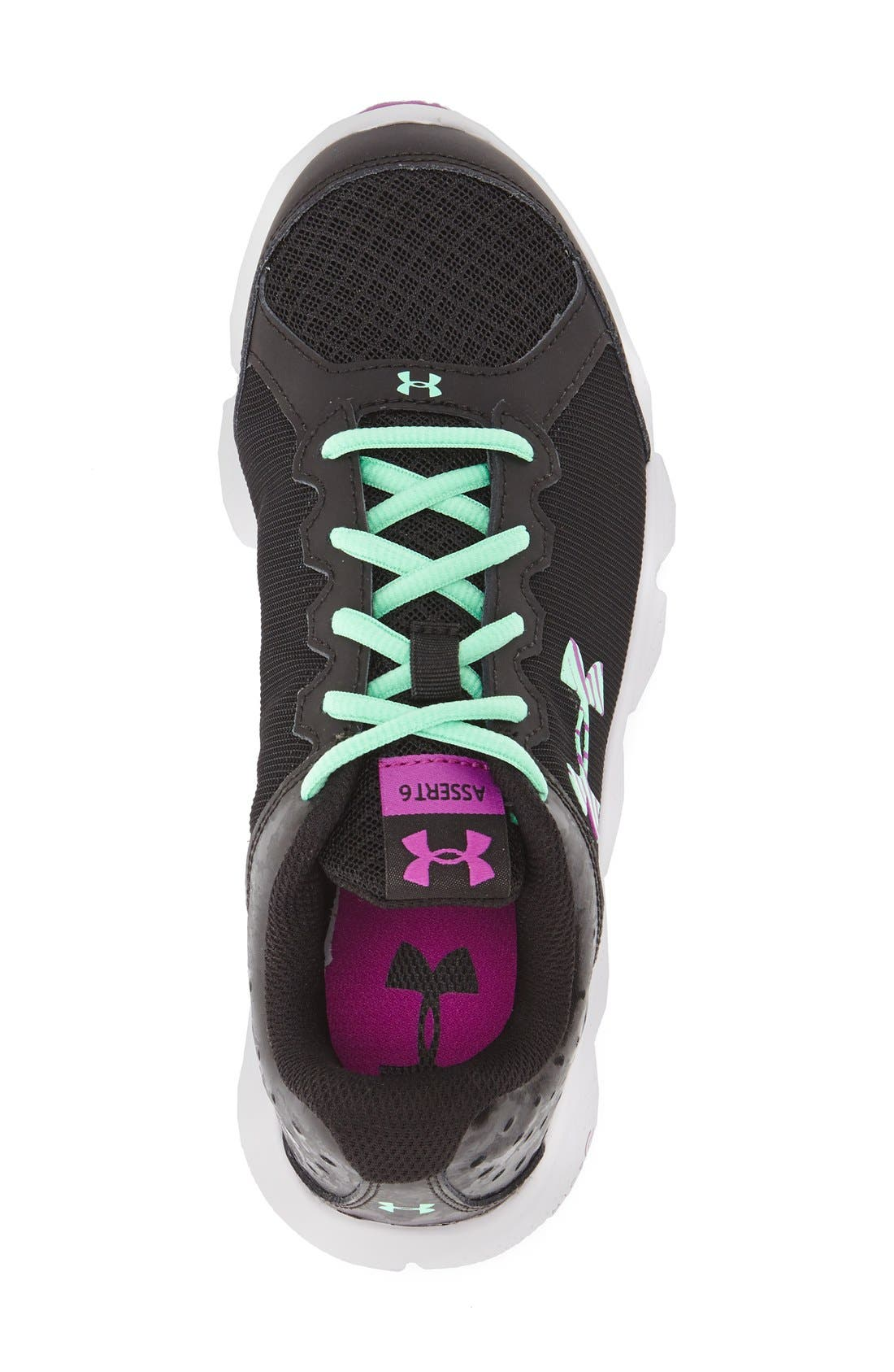 'Micro G<sup>®</sup> Assert VI' Running Shoe,                             Alternate thumbnail 4, color,                             001