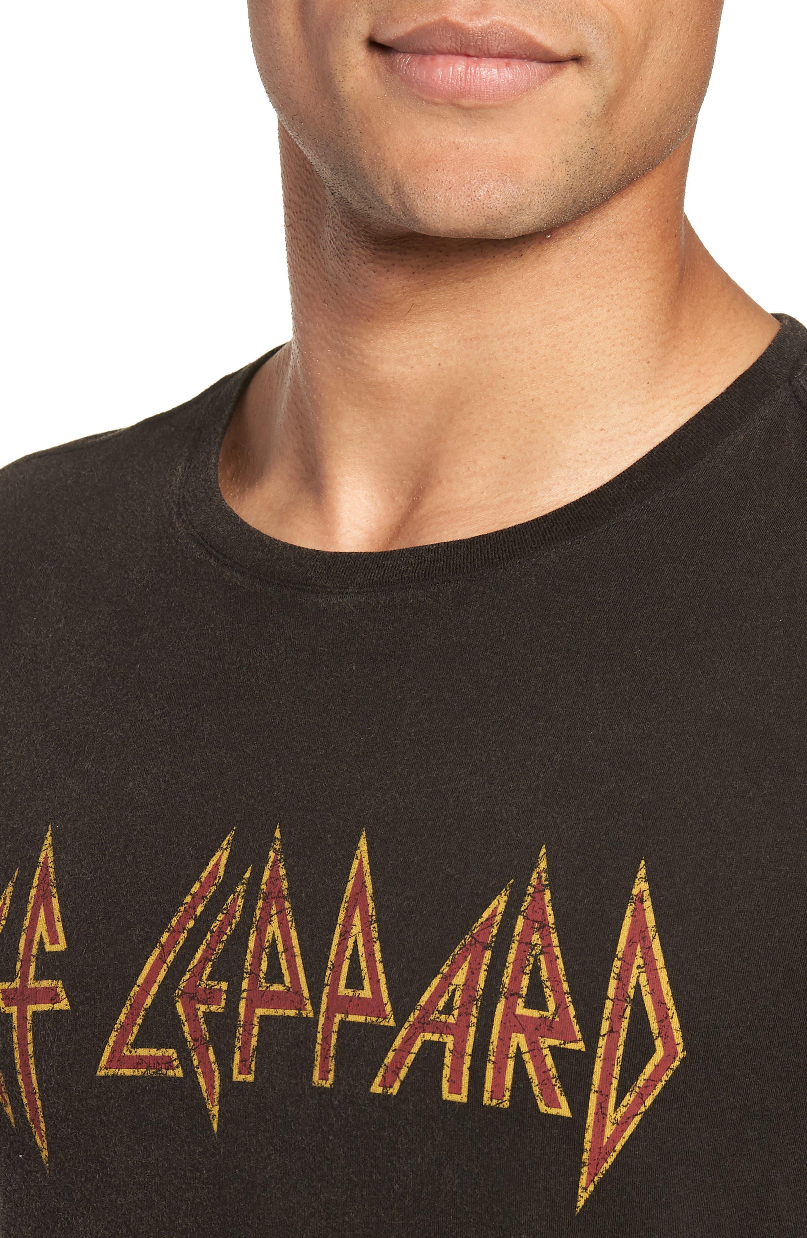 Def Leppard Graphic T-Shirt,                             Alternate thumbnail 4, color,                             001