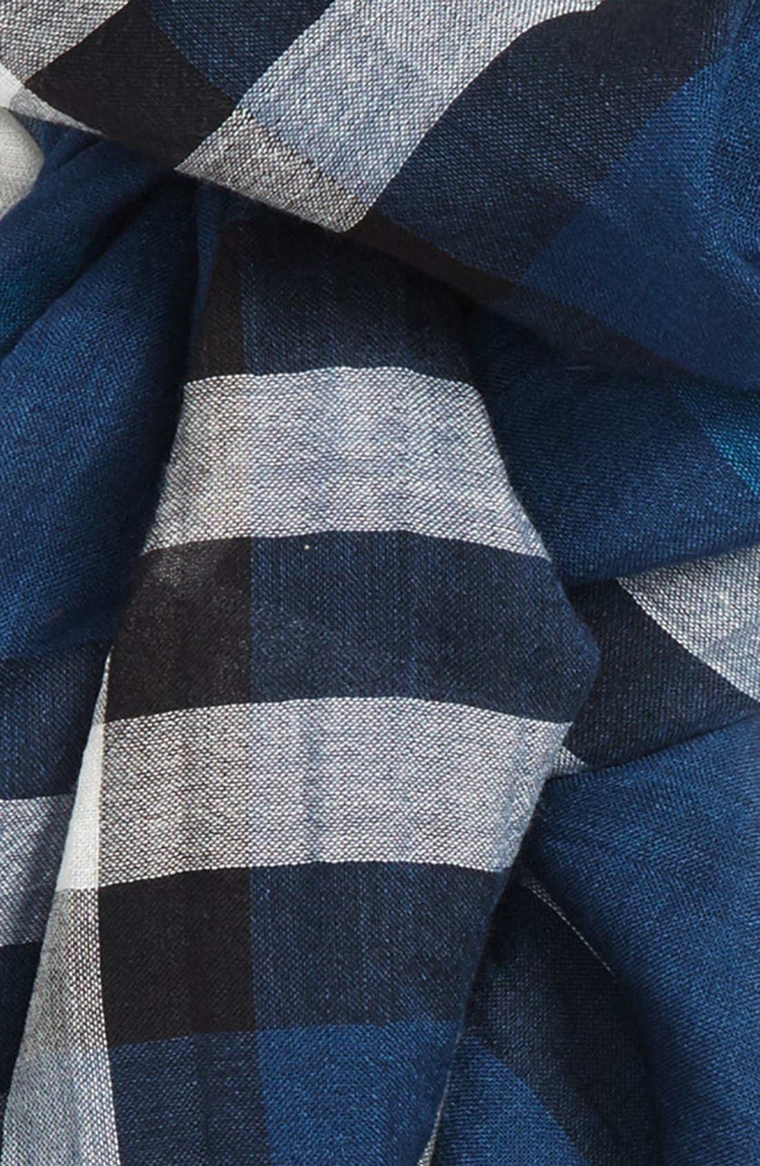 Giant Check Print Wool & Silk Scarf,                             Alternate thumbnail 131, color,