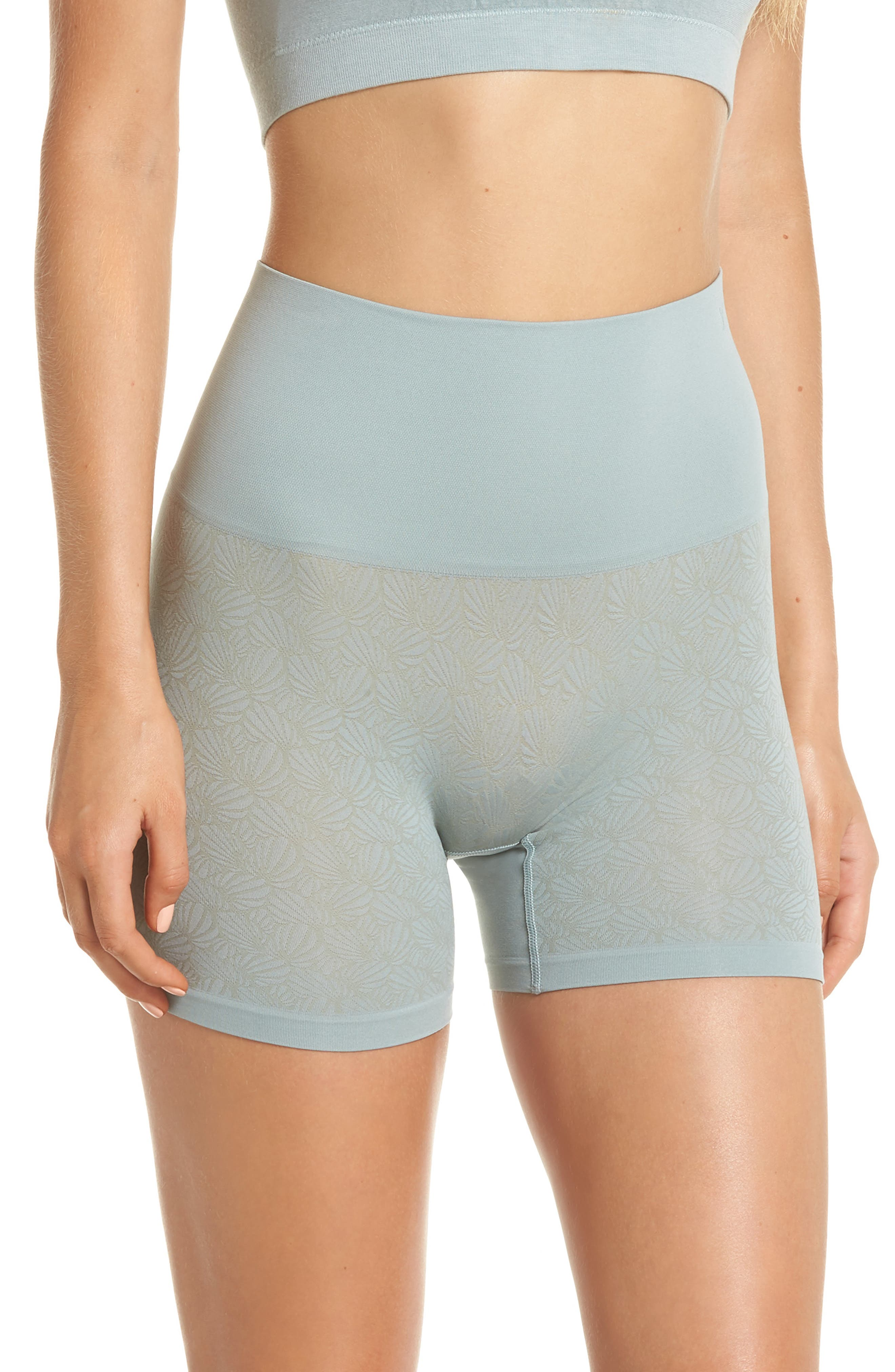 Ultralight Seamless Shaping Shorts,                         Main,                         color, SILVER BLUE