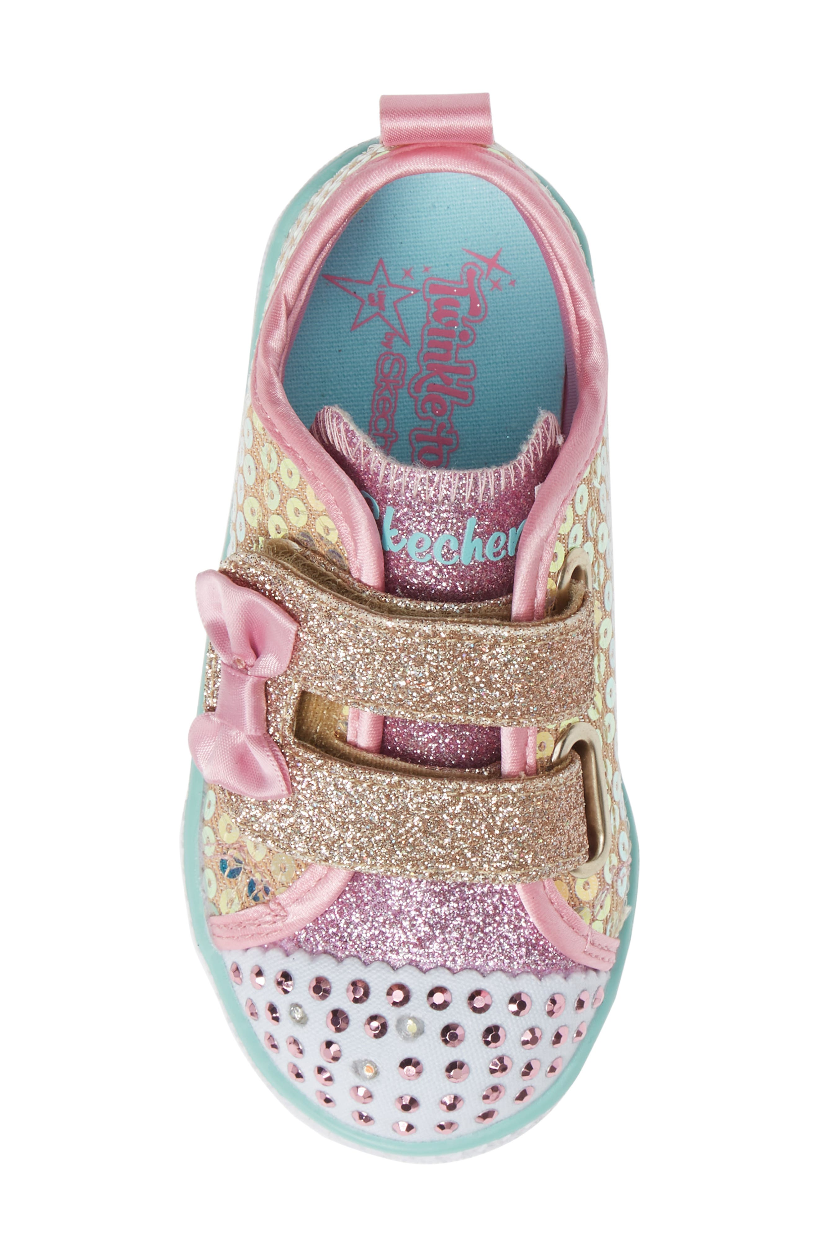 Shuffle Lite Glitter Sneaker,                             Alternate thumbnail 5, color,                             GOLD
