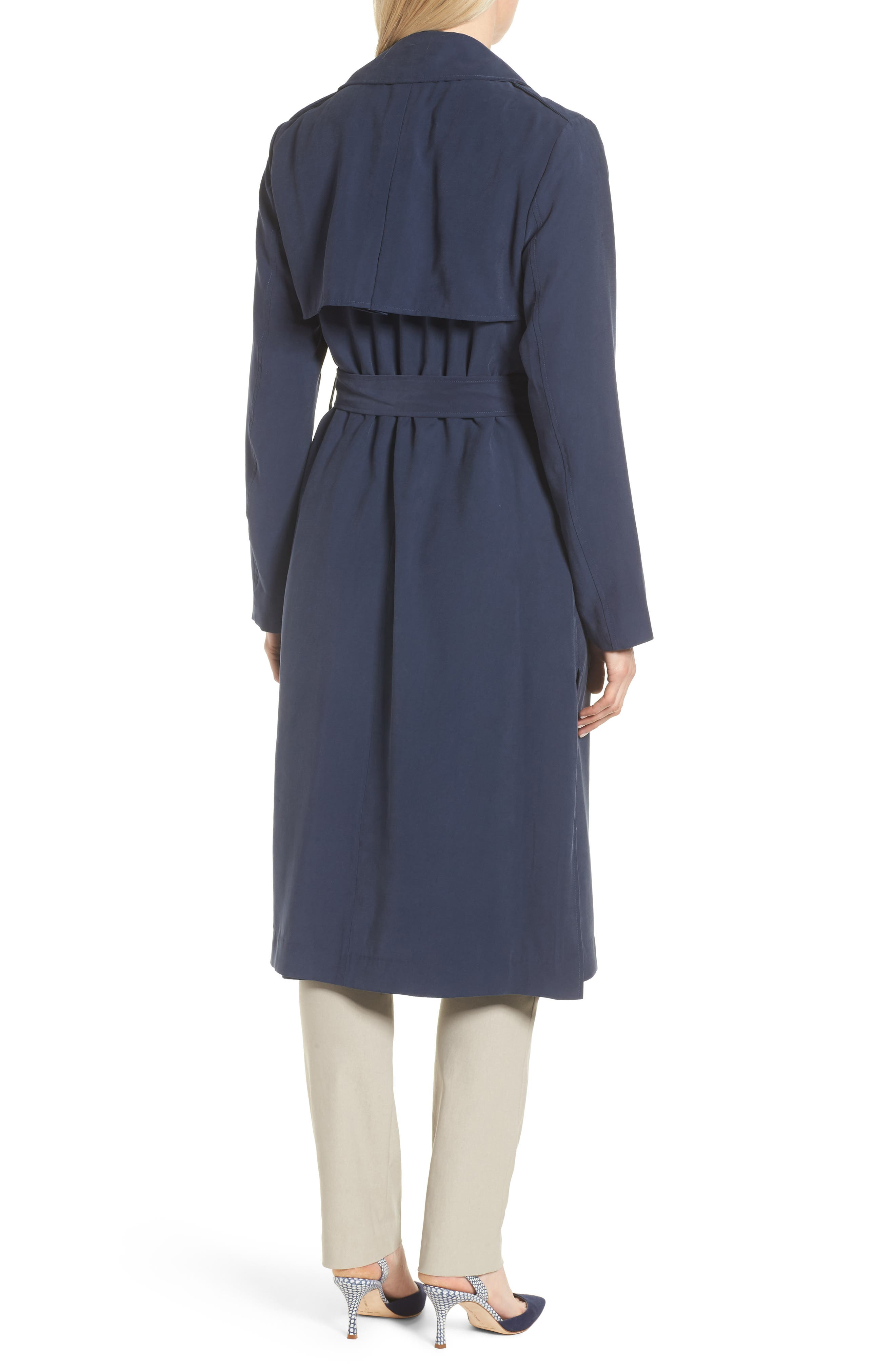 Long Drapey Trench Coat,                             Alternate thumbnail 2, color,                             410