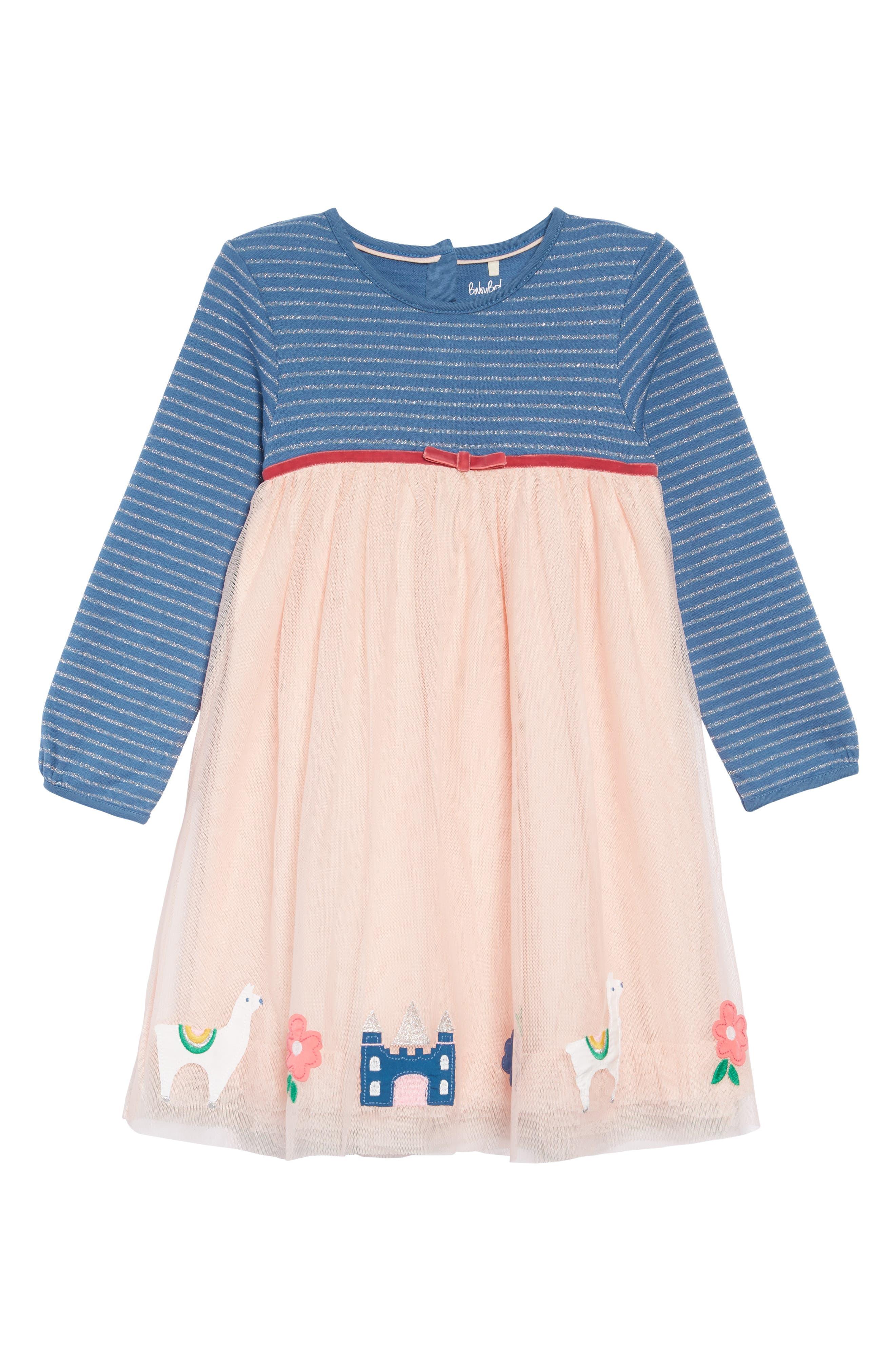 Magical Tulle Dress,                             Main thumbnail 1, color,                             PNK PROVENCE DUSTY PINK LLAMA