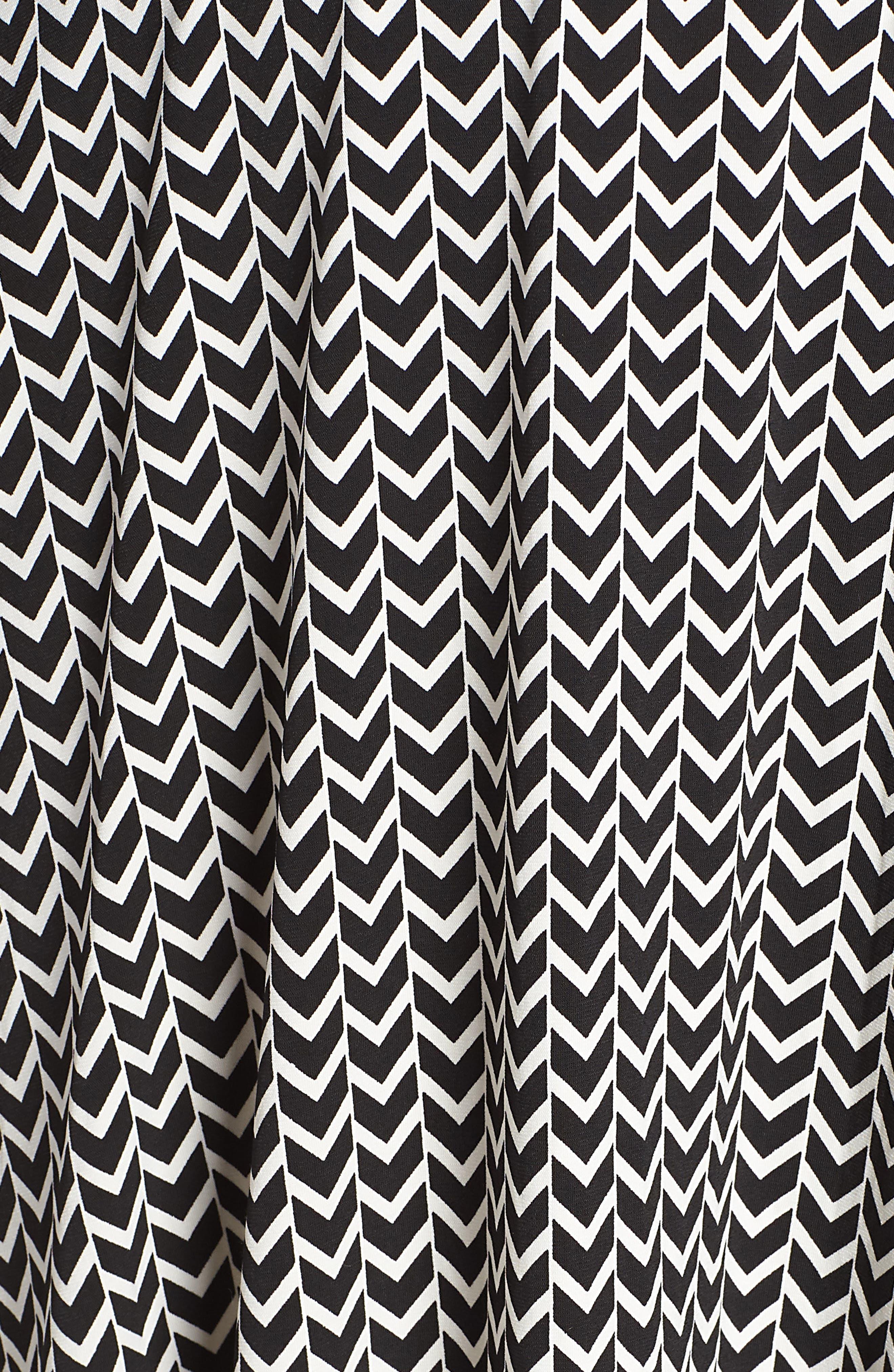 Wrap Dress,                             Alternate thumbnail 6, color,                             HERRINGBONE-BLACK