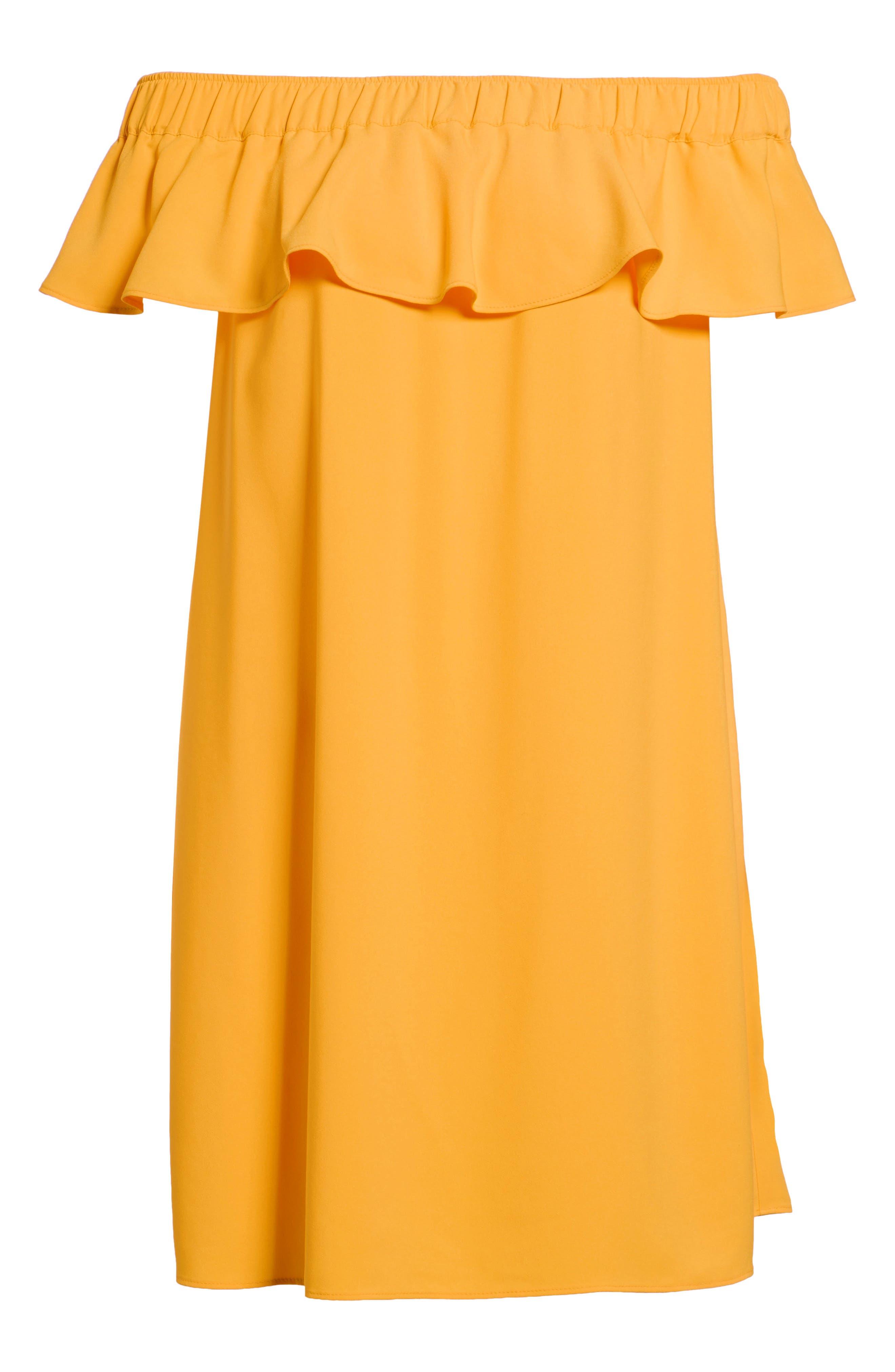 Off the Shoulder Crepe Dress,                             Alternate thumbnail 30, color,