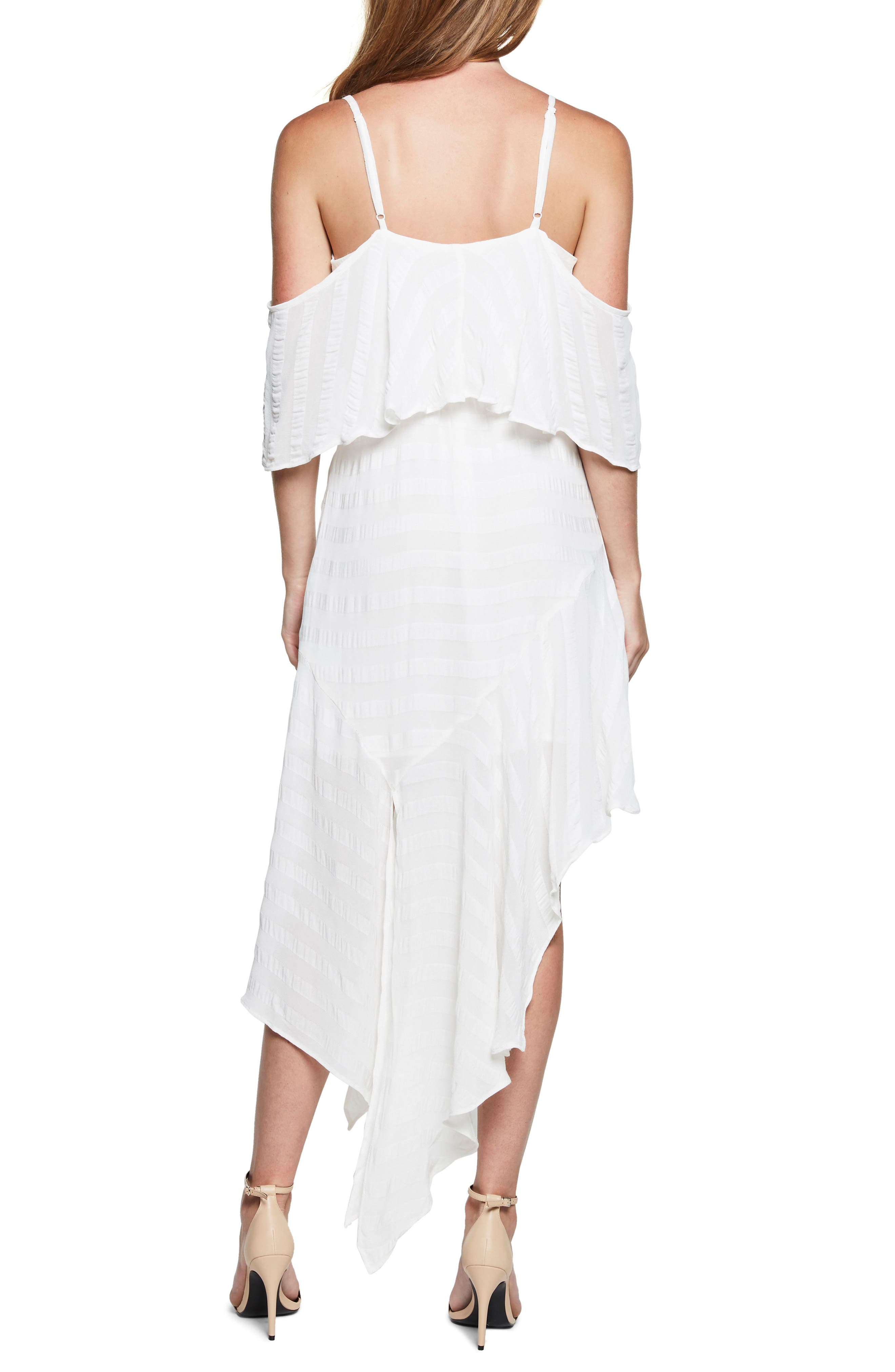 Elle Frill Cold Shoulder Dress,                             Alternate thumbnail 2, color,