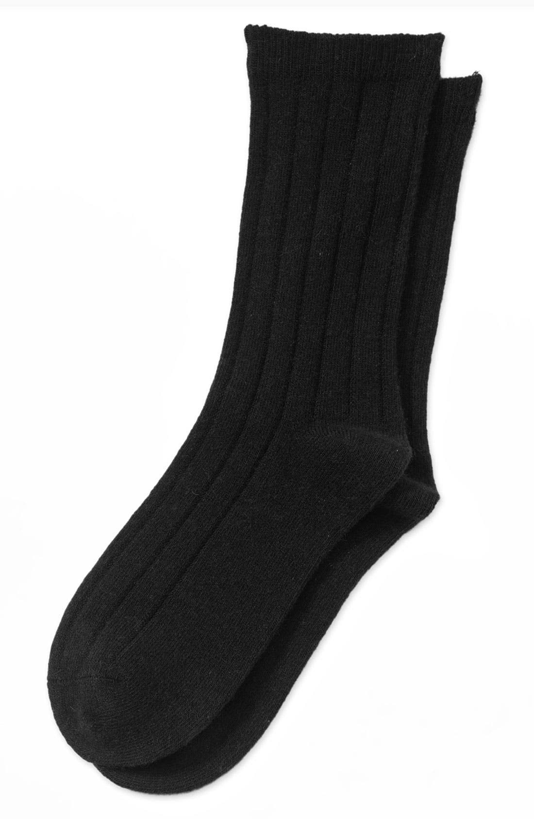 Ribbed Socks,                             Main thumbnail 1, color,                             001