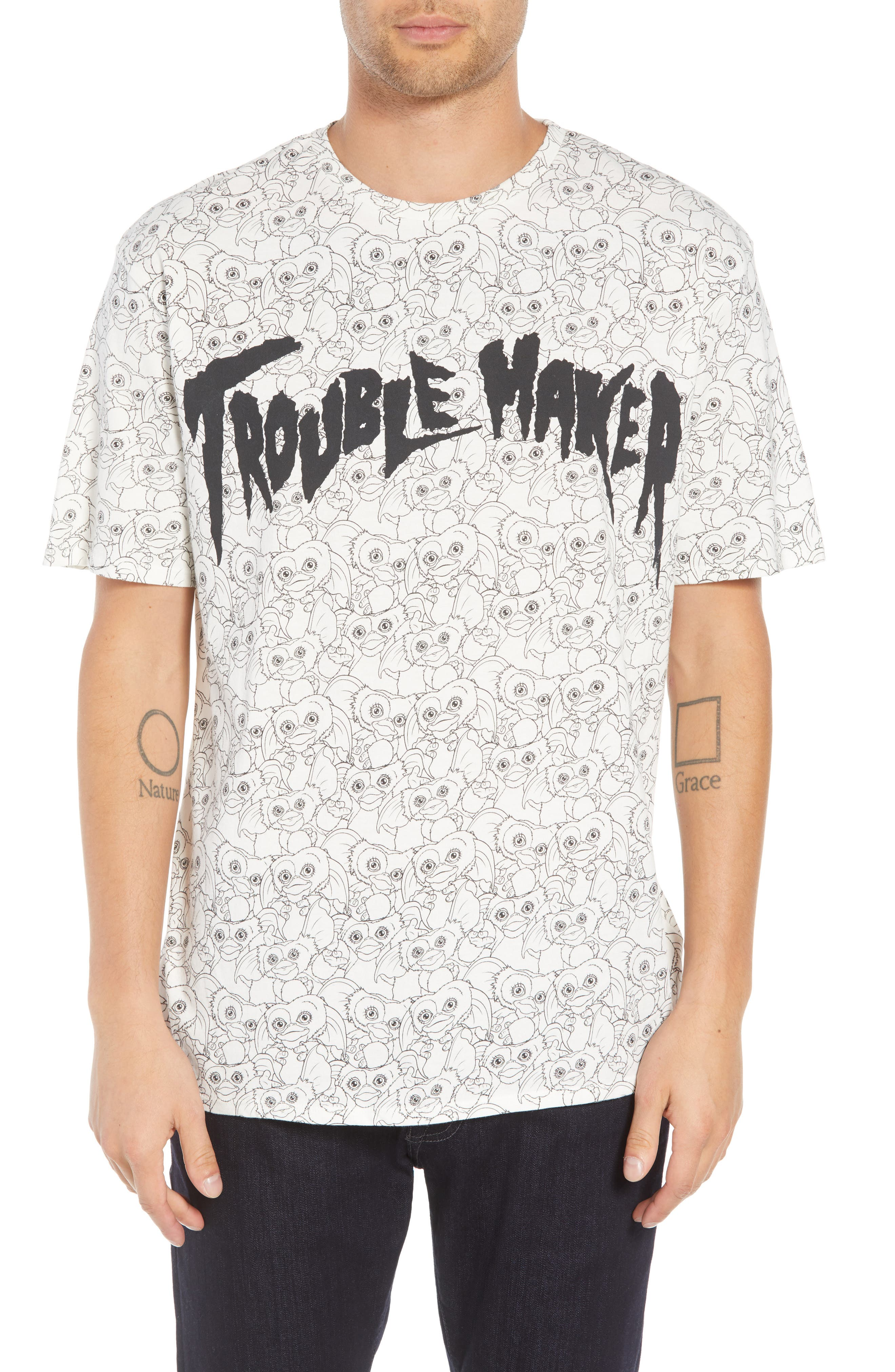ELEVENPARIS Trouble Maker Graphic T-Shirt in White