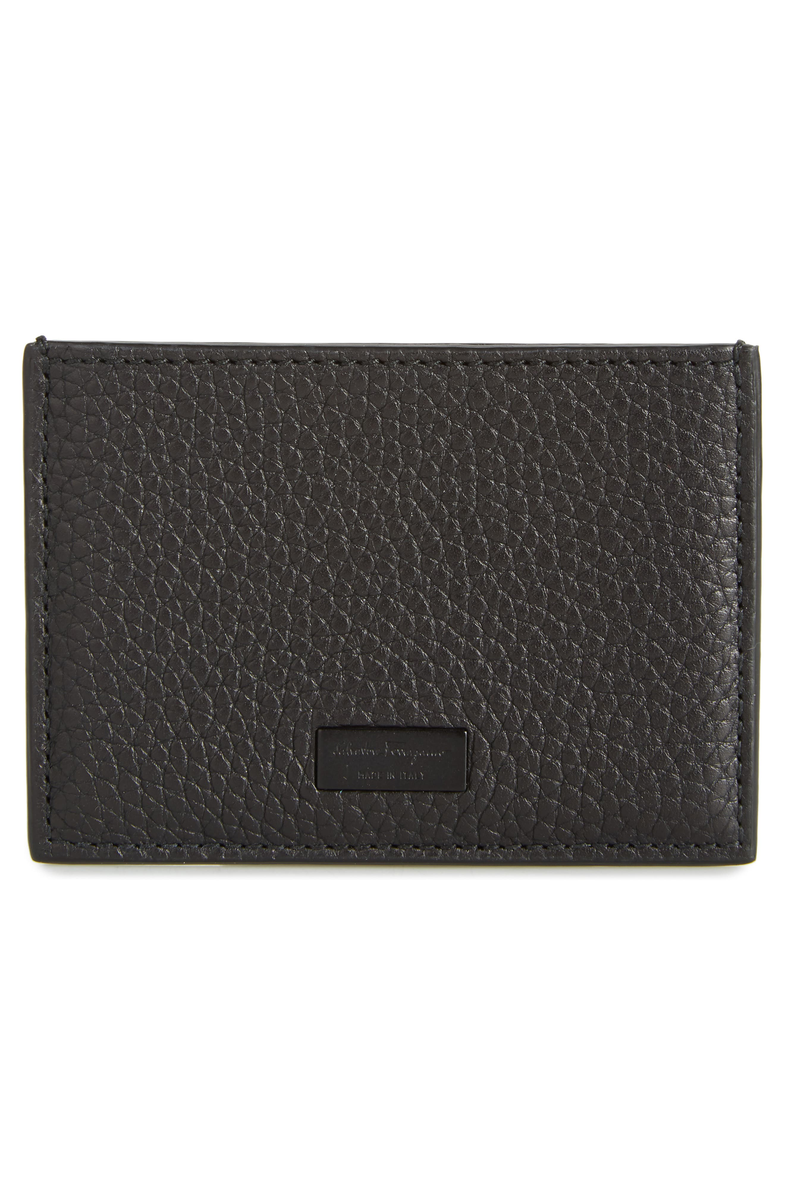 New Firenze Leather Card Case,                             Alternate thumbnail 2, color,                             NERO